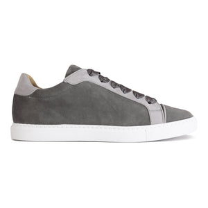 SATURNIA - Velukid Anthracite + Grigio, VIAJIYU - Women's Hand Made Sustainable Luxury Shoes. Made in Italy. Made to Order.