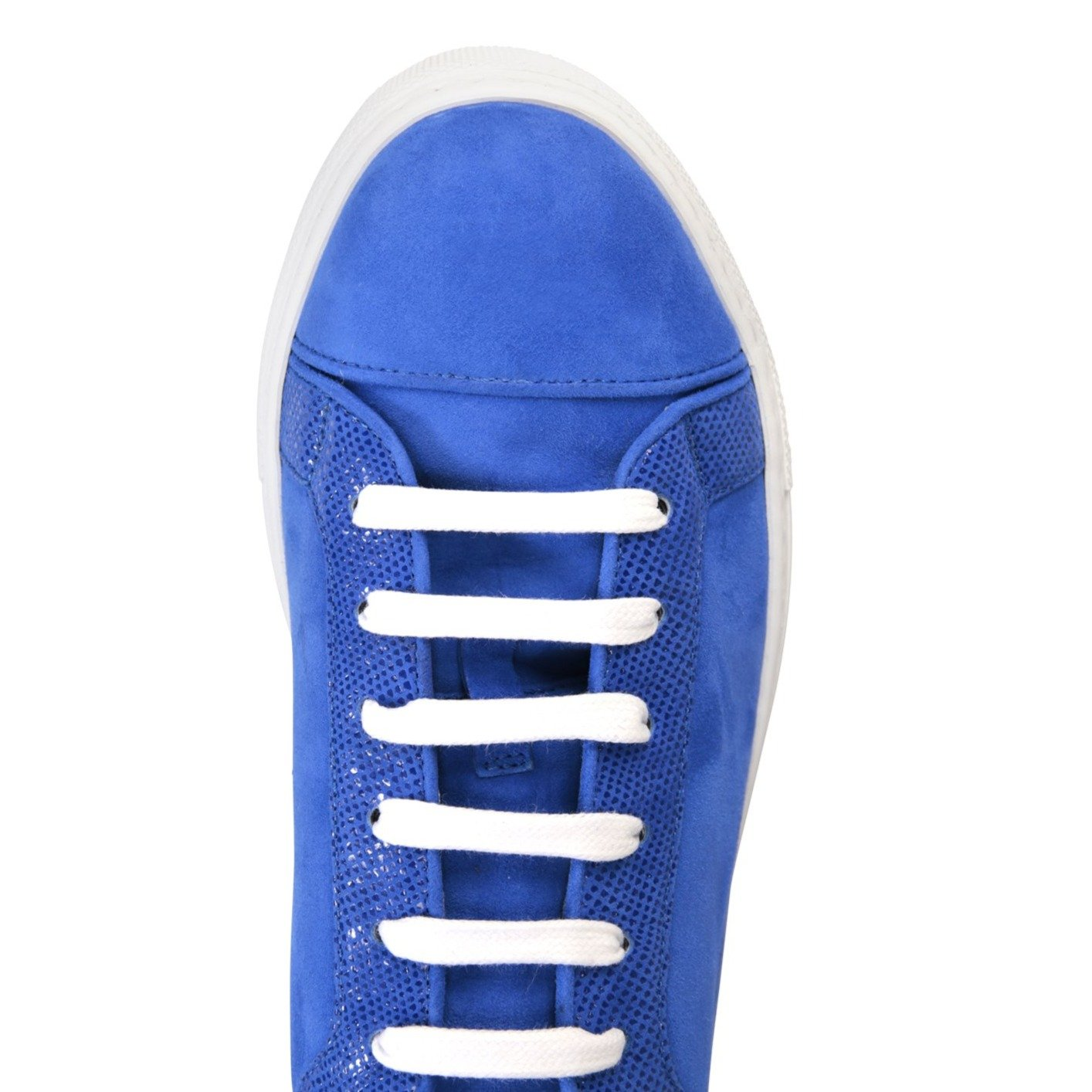 SATURNIA - Velukid Cobalt + Karung, VIAJIYU - Women's Hand Made Sustainable Luxury Shoes. Made in Italy. Made to Order.