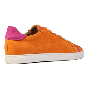 SATURNIA - Velukid Mandarin + Velukid Epiphany Pink, VIAJIYU - Women's Hand Made Sustainable Luxury Shoes. Made in Italy. Made to Order.