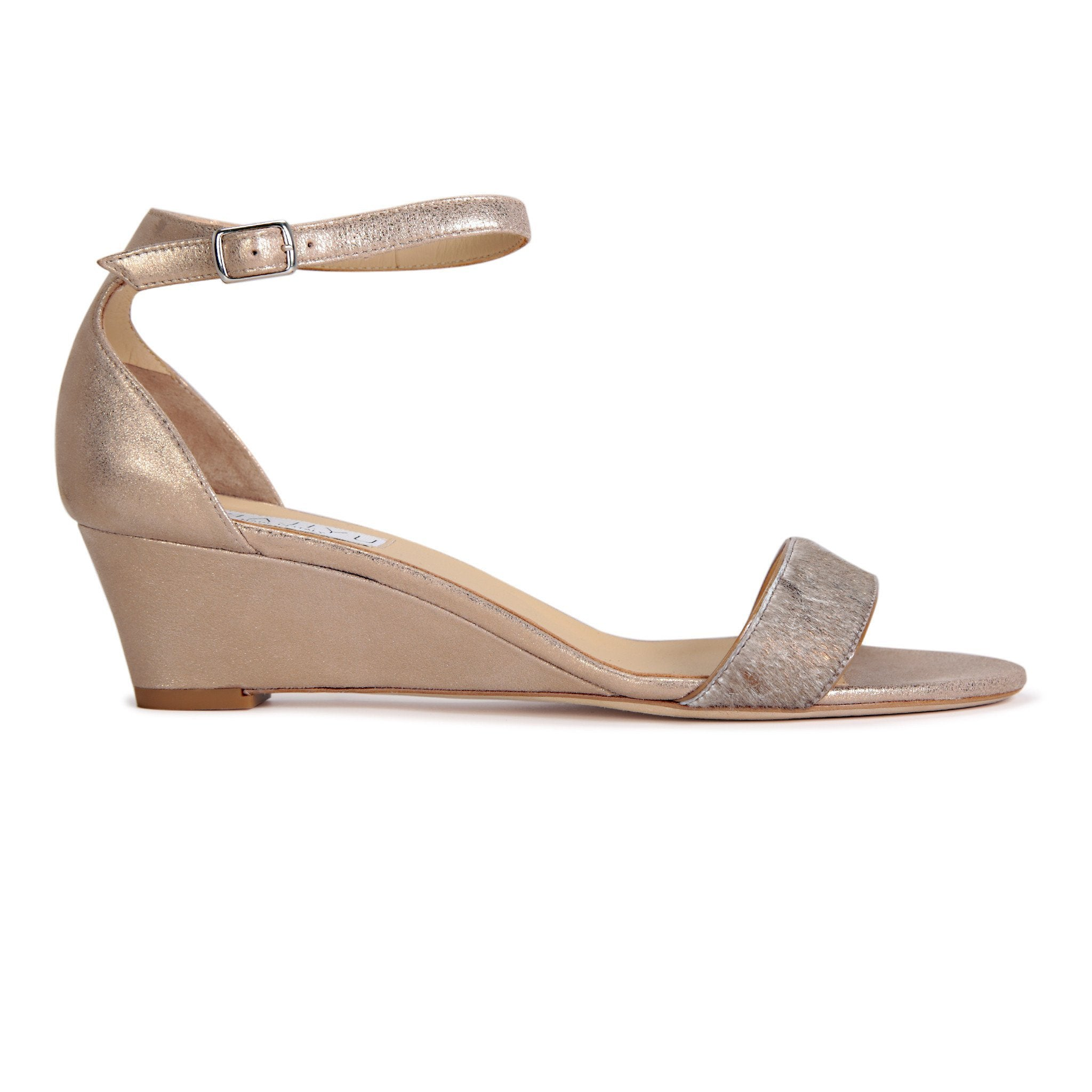 SAVONA - Calf Hair Vintage Copper + Burma Sabbia Rosata, VIAJIYU - Women's Hand Made Sustainable Luxury Shoes. Made in Italy. Made to Order.