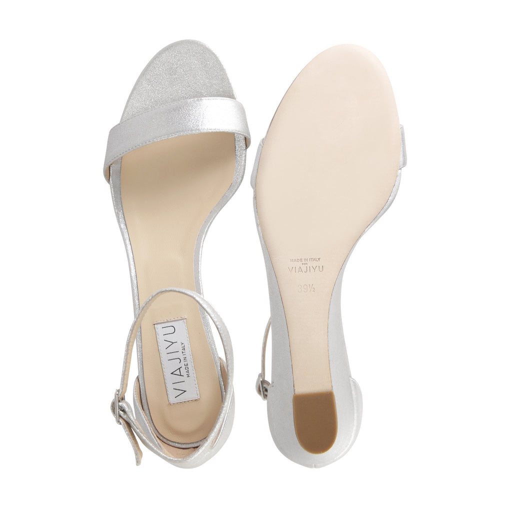 SAVONA - Burma Argento, VIAJIYU - Women's Hand Made Sustainable Luxury Shoes. Made in Italy. Made to Order.