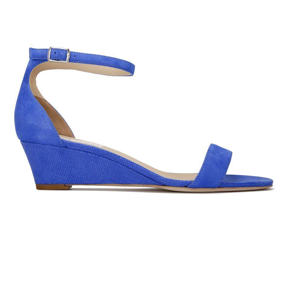 SAVONA - Hydra + Karung Cobalt, VIAJIYU - Women's Hand Made Sustainable Luxury Shoes. Made in Italy. Made to Order.