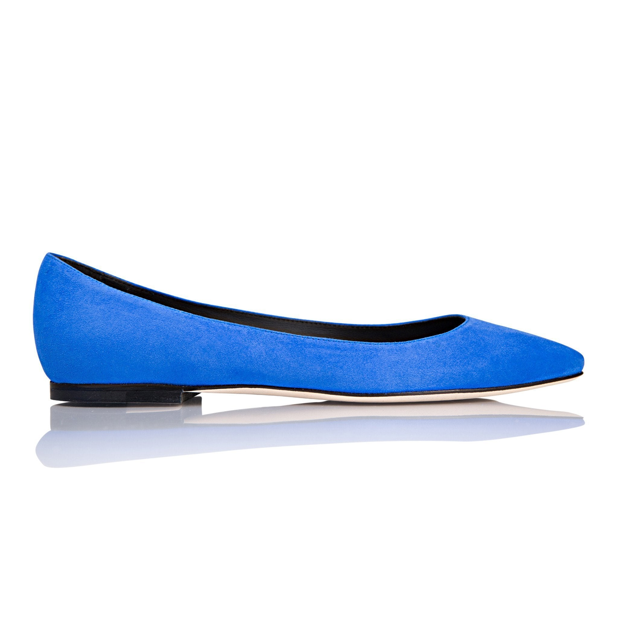 SIENA - Velukid Cobalt, VIAJIYU - Women's Hand Made Sustainable Luxury Shoes. Made in Italy. Made to Order.