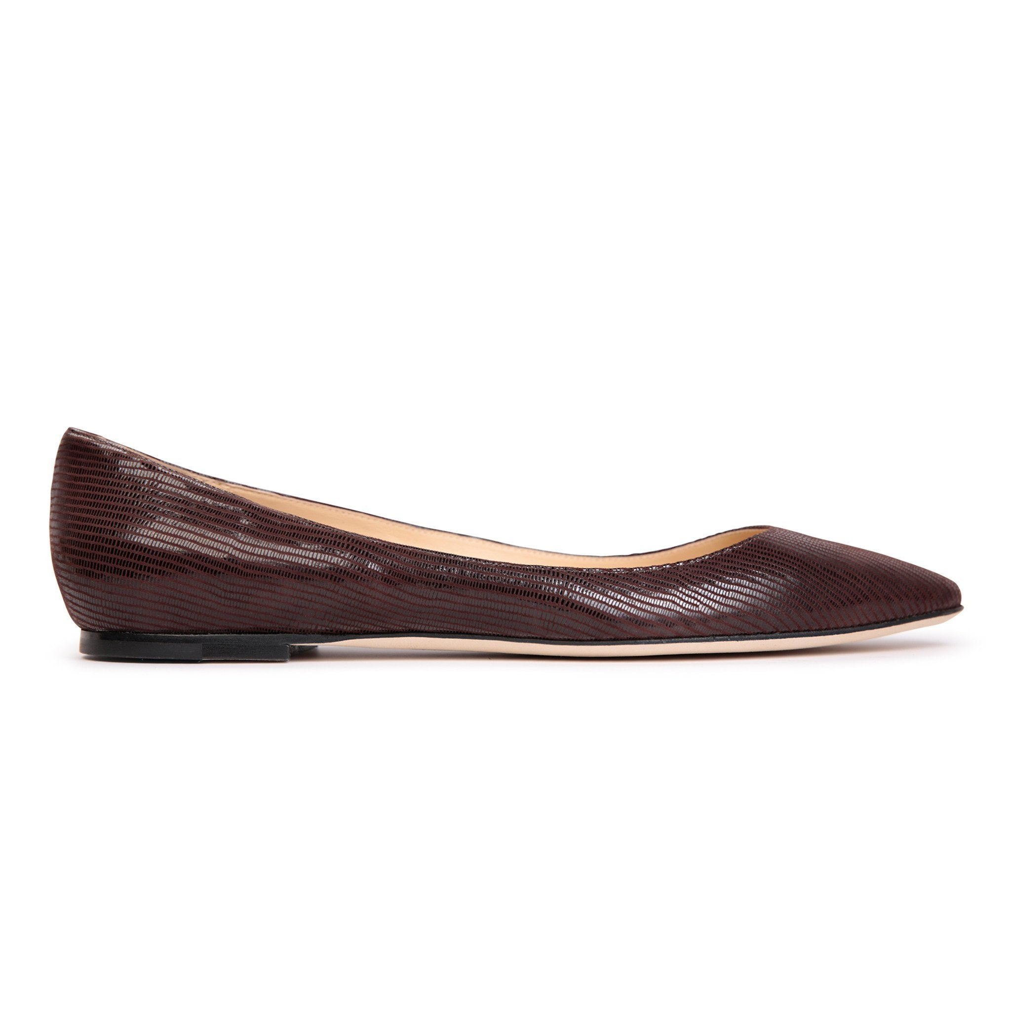 SIENA - Varanus Espresso, VIAJIYU - Women's Hand Made Sustainable Luxury Shoes. Made in Italy. Made to Order.