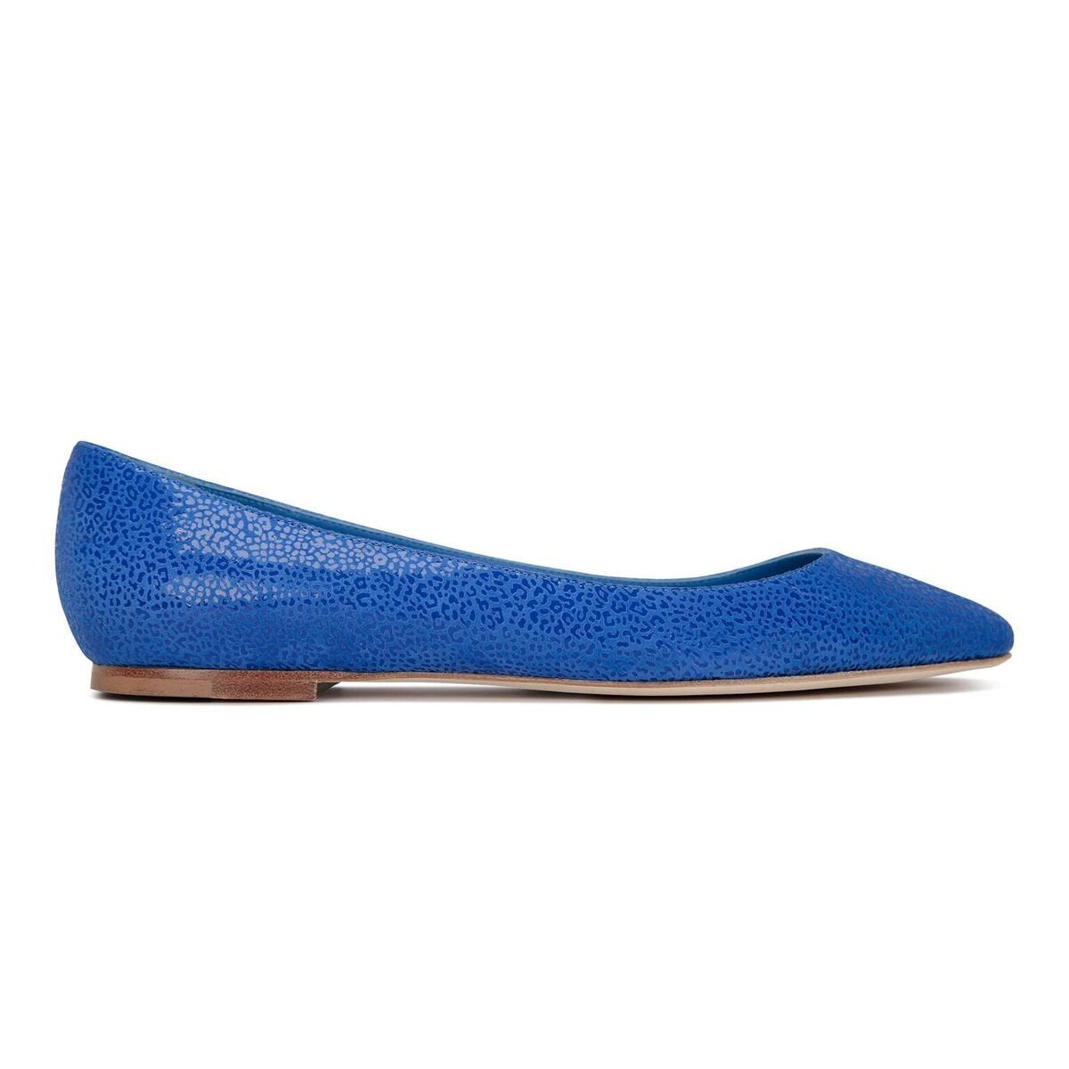 SIENA - Savannah Cobalt, VIAJIYU - Women's Hand Made Sustainable Luxury Shoes. Made in Italy. Made to Order.