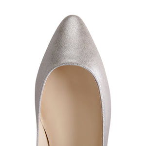 SIENA - Burma Pewter, VIAJIYU - Women's Hand Made Sustainable Luxury Shoes. Made in Italy. Made to Order.