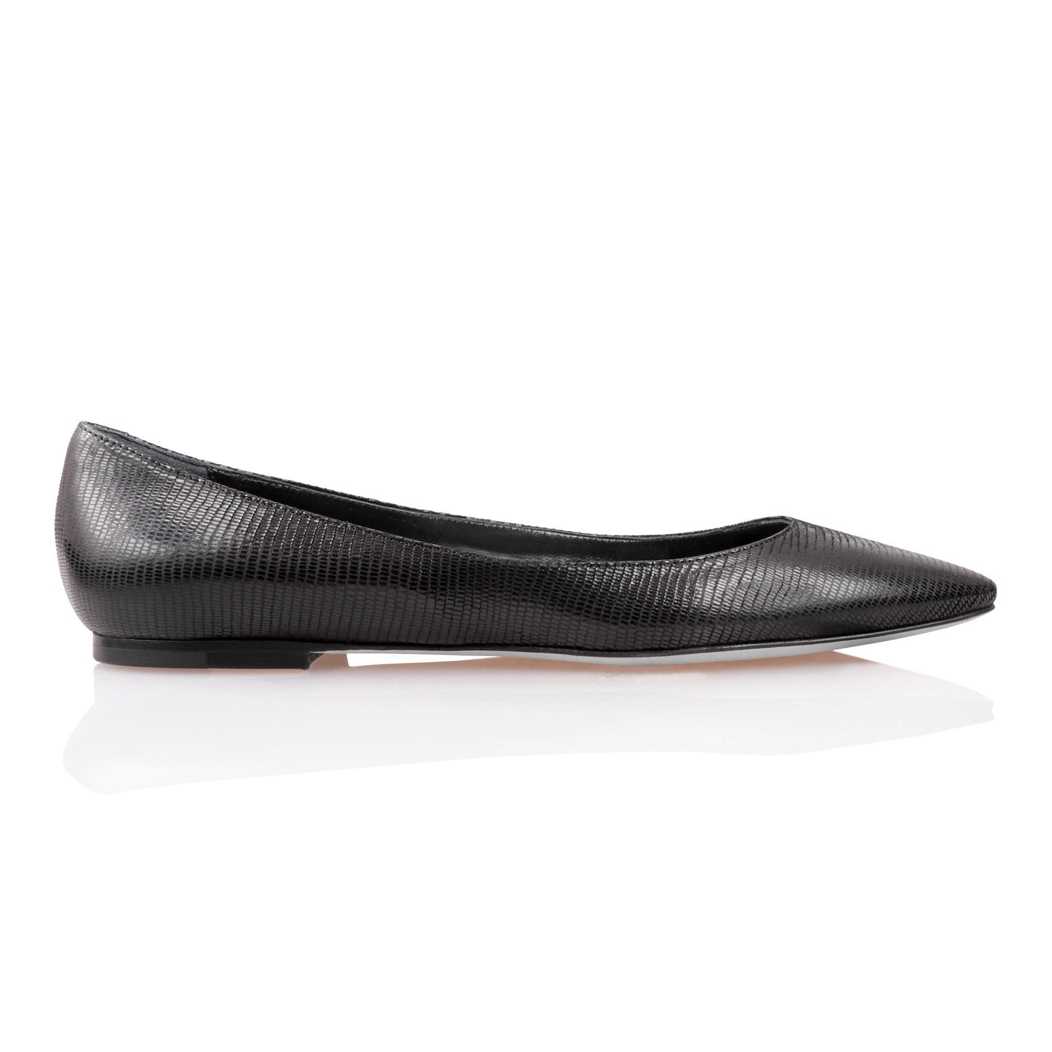 SIENA - Varanus Nero, VIAJIYU - Women's Hand Made Sustainable Luxury Shoes. Made in Italy. Made to Order.