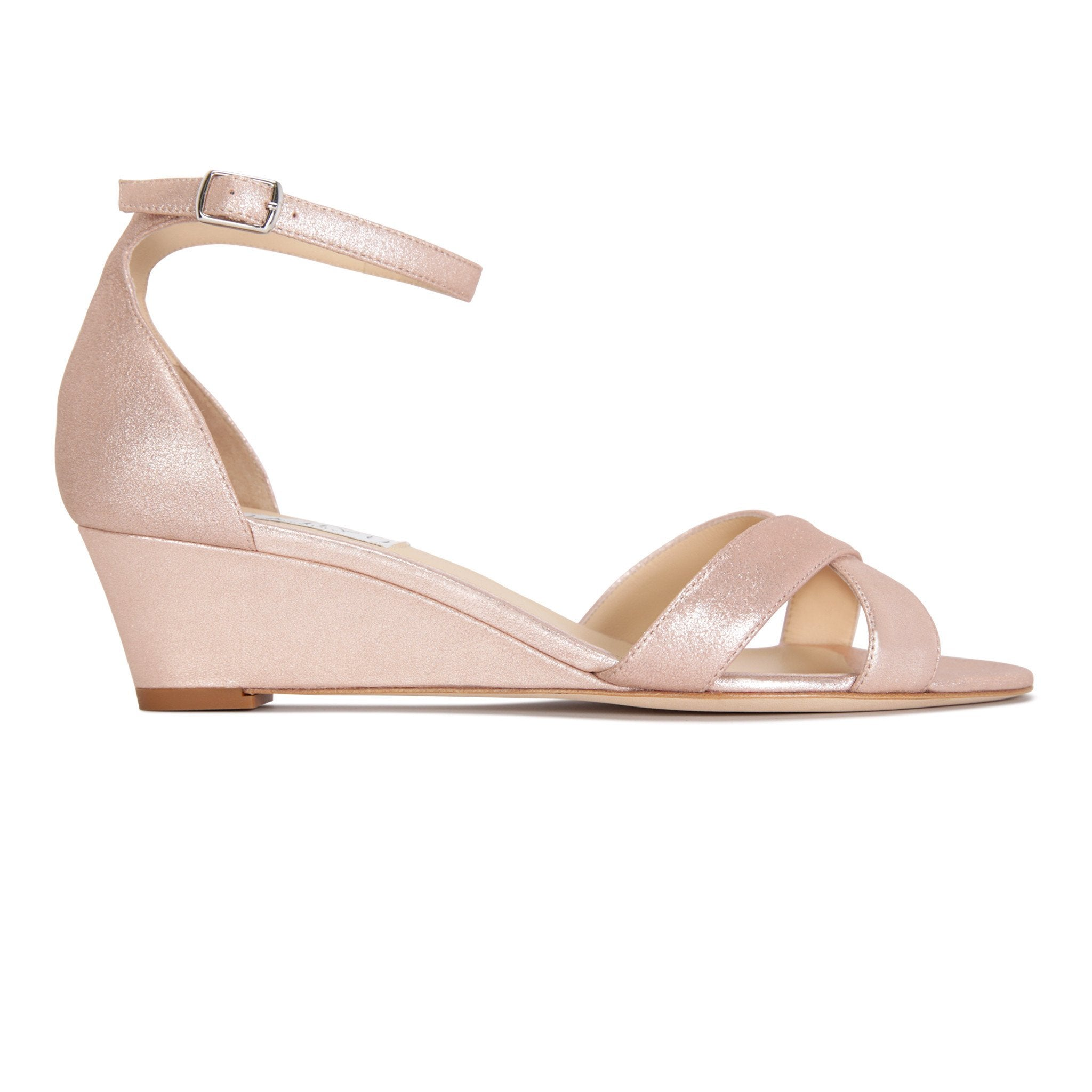 SORRENTO - Burma Rose Gold, VIAJIYU - Women's Hand Made Sustainable Luxury Shoes. Made in Italy. Made to Order.
