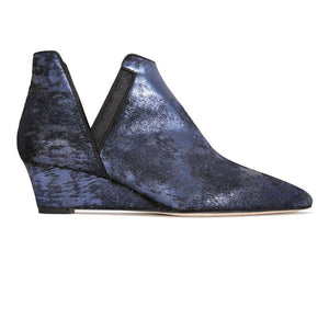 SYRENE - Calf Hair Vintage Midnight + Burma Midnight, VIAJIYU - Women's Hand Made Sustainable Luxury Shoes. Made in Italy. Made to Order.