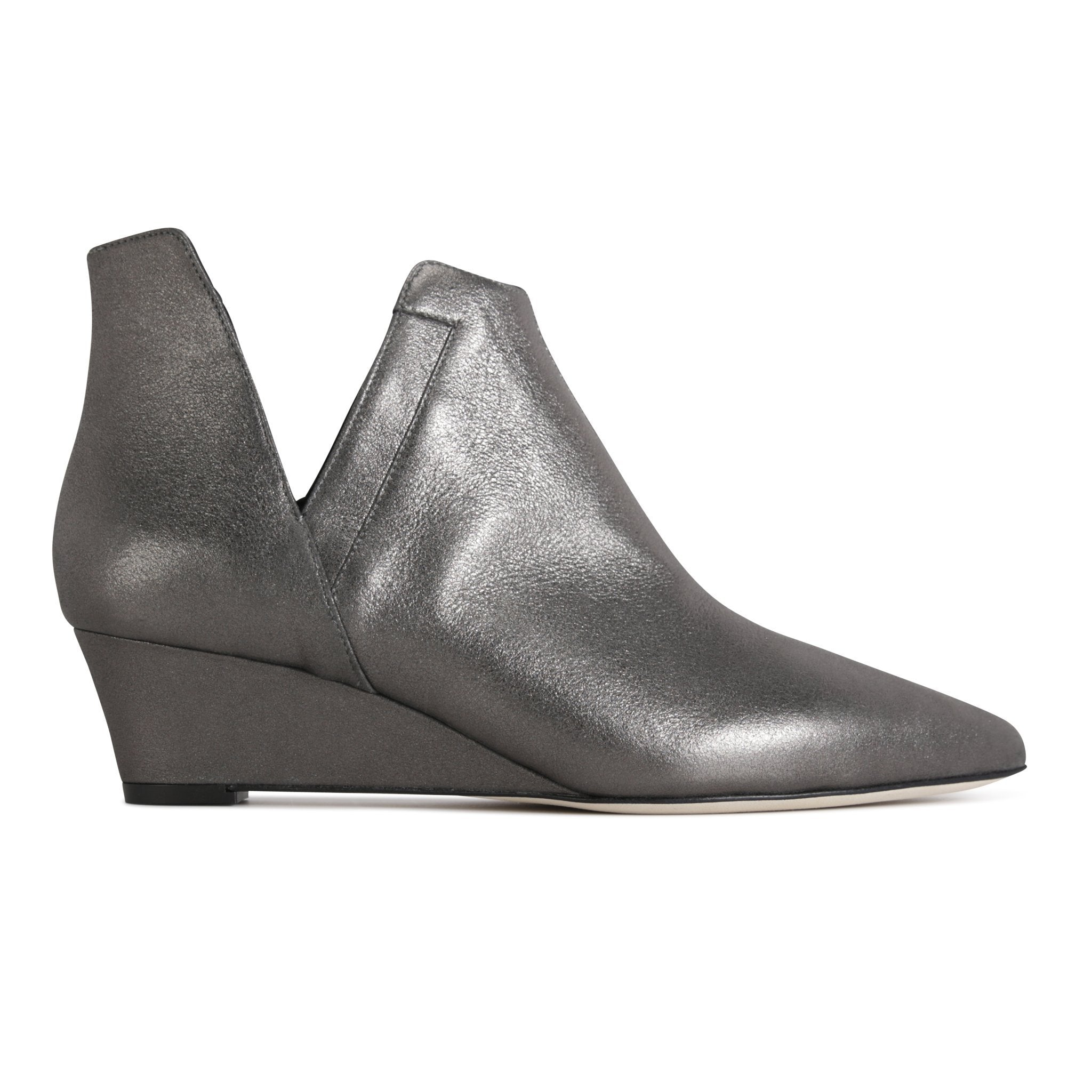 SYRENE - Burma Anthracite, VIAJIYU - Women's Hand Made Sustainable Luxury Shoes. Made in Italy. Made to Order.