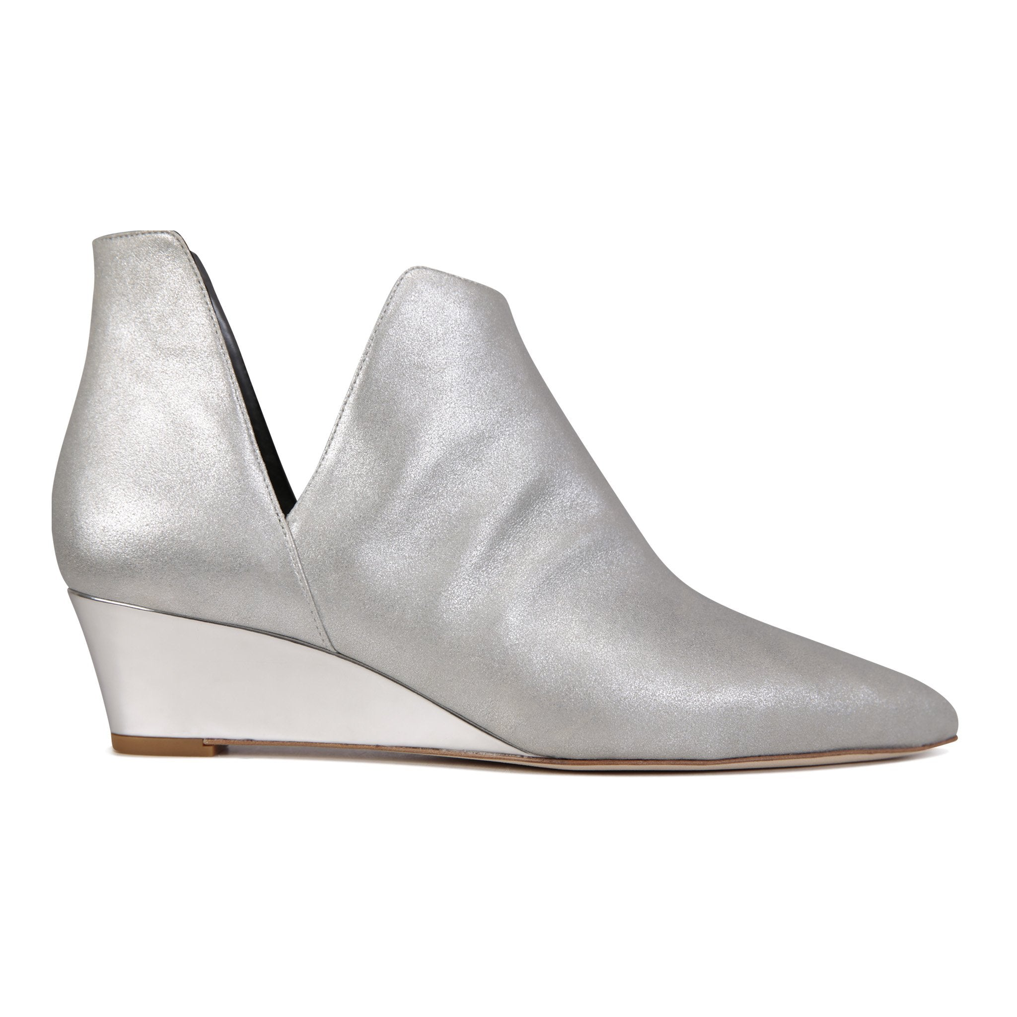 SYRENE - Burma + Metallic Argento, VIAJIYU - Women's Hand Made Sustainable Luxury Shoes. Made in Italy. Made to Order.