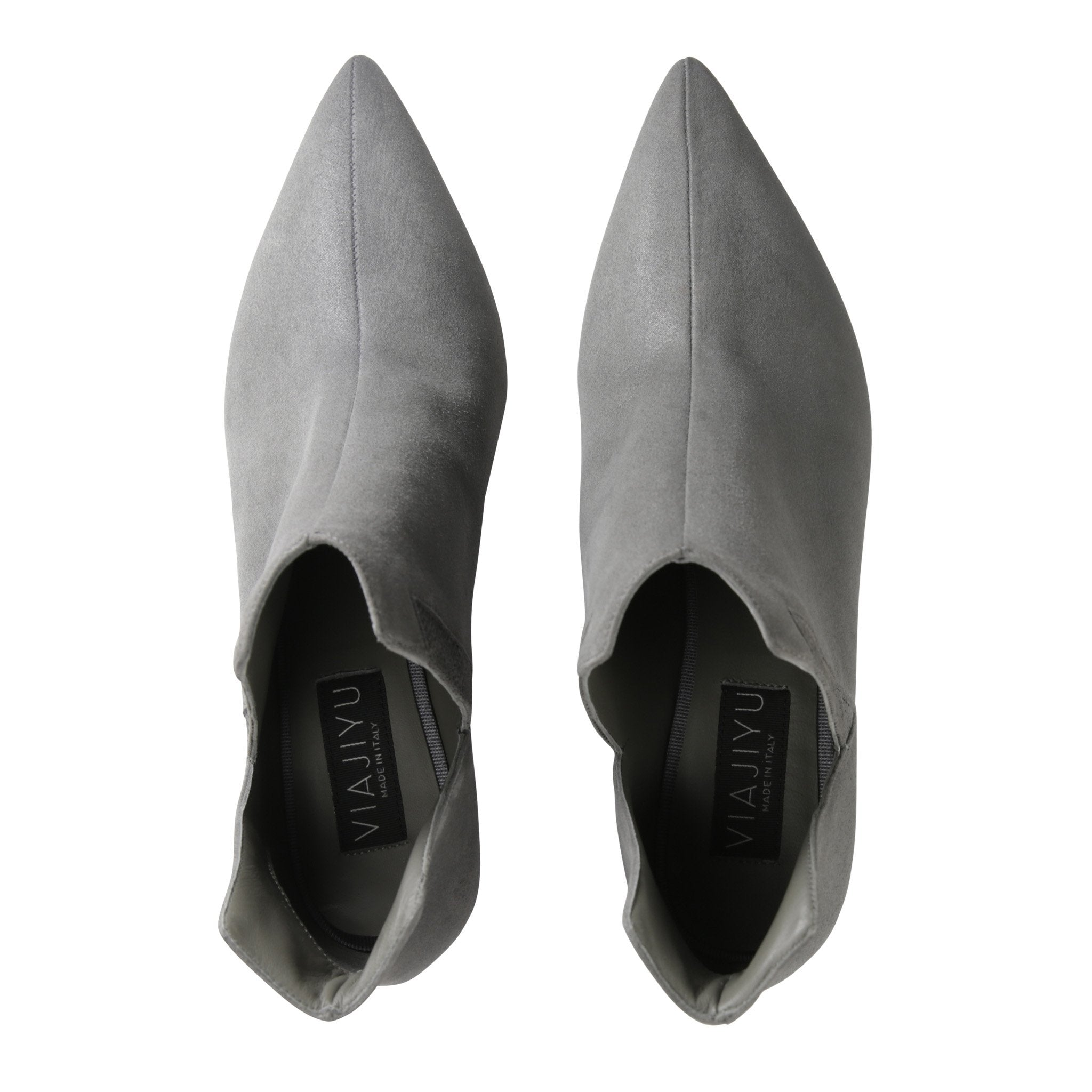 SYRENE - Hydra + Karung Anthracite, VIAJIYU - Women's Hand Made Sustainable Luxury Shoes. Made in Italy. Made to Order.