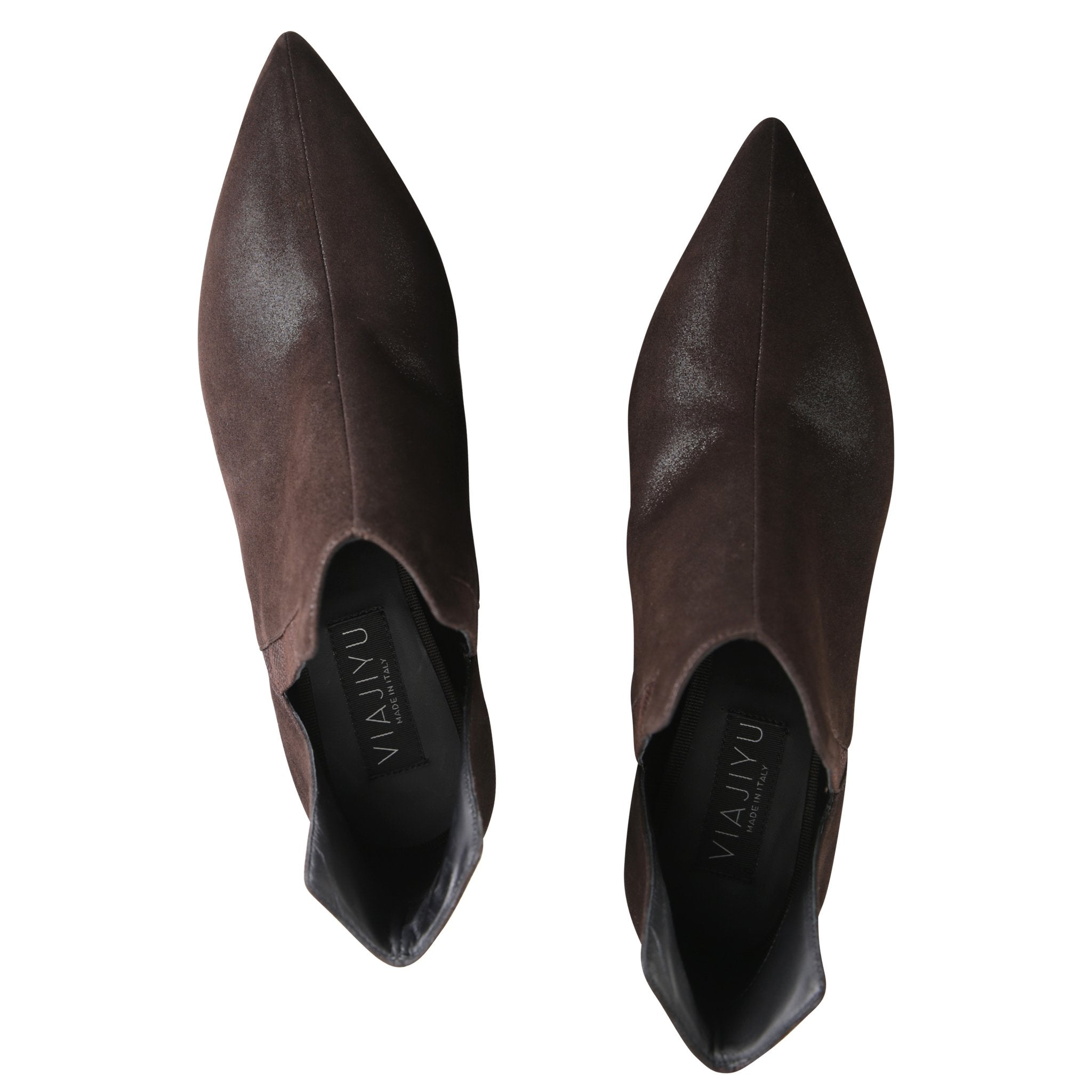SYRENE - Hydra + Karung Espresso, VIAJIYU - Women's Hand Made Sustainable Luxury Shoes. Made in Italy. Made to Order.
