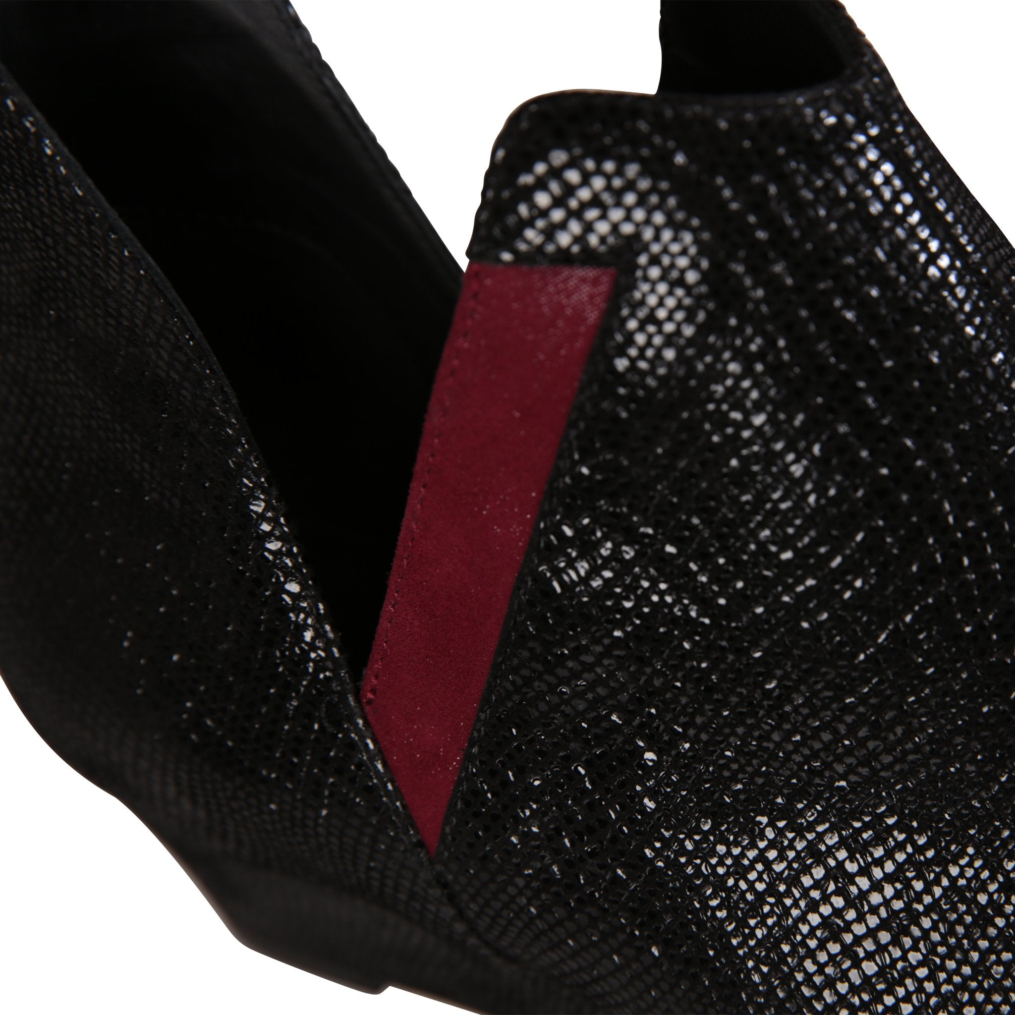 SYRENE - Karung Nero + Hydra Bordeaux, VIAJIYU - Women's Hand Made Sustainable Luxury Shoes. Made in Italy. Made to Order.