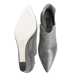 SYRENE - Savannah Anthracite, VIAJIYU - Women's Hand Made Sustainable Luxury Shoes. Made in Italy. Made to Order.