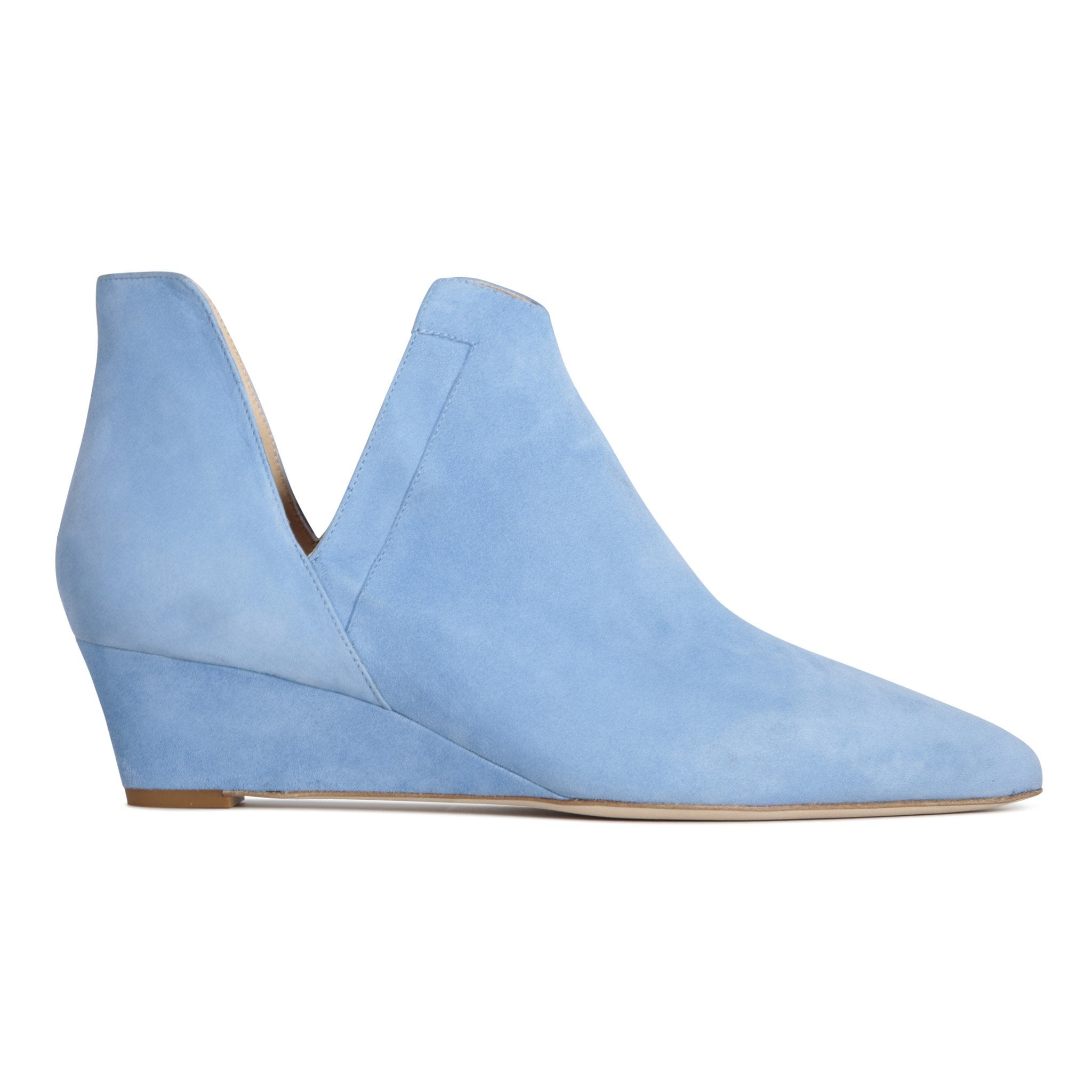 SYRENE - Velukid Bambina Blue, VIAJIYU - Women's Hand Made Sustainable Luxury Shoes. Made in Italy. Made to Order.
