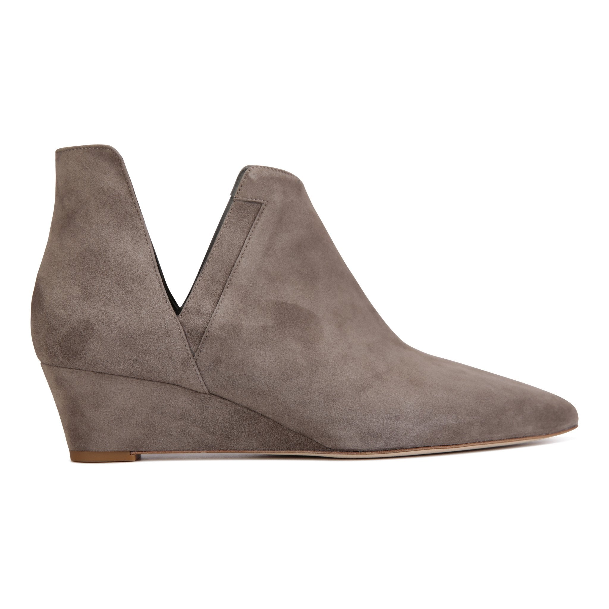 SYRENE - Velukid Taupe, VIAJIYU - Women's Hand Made Sustainable Luxury Shoes. Made in Italy. Made to Order.