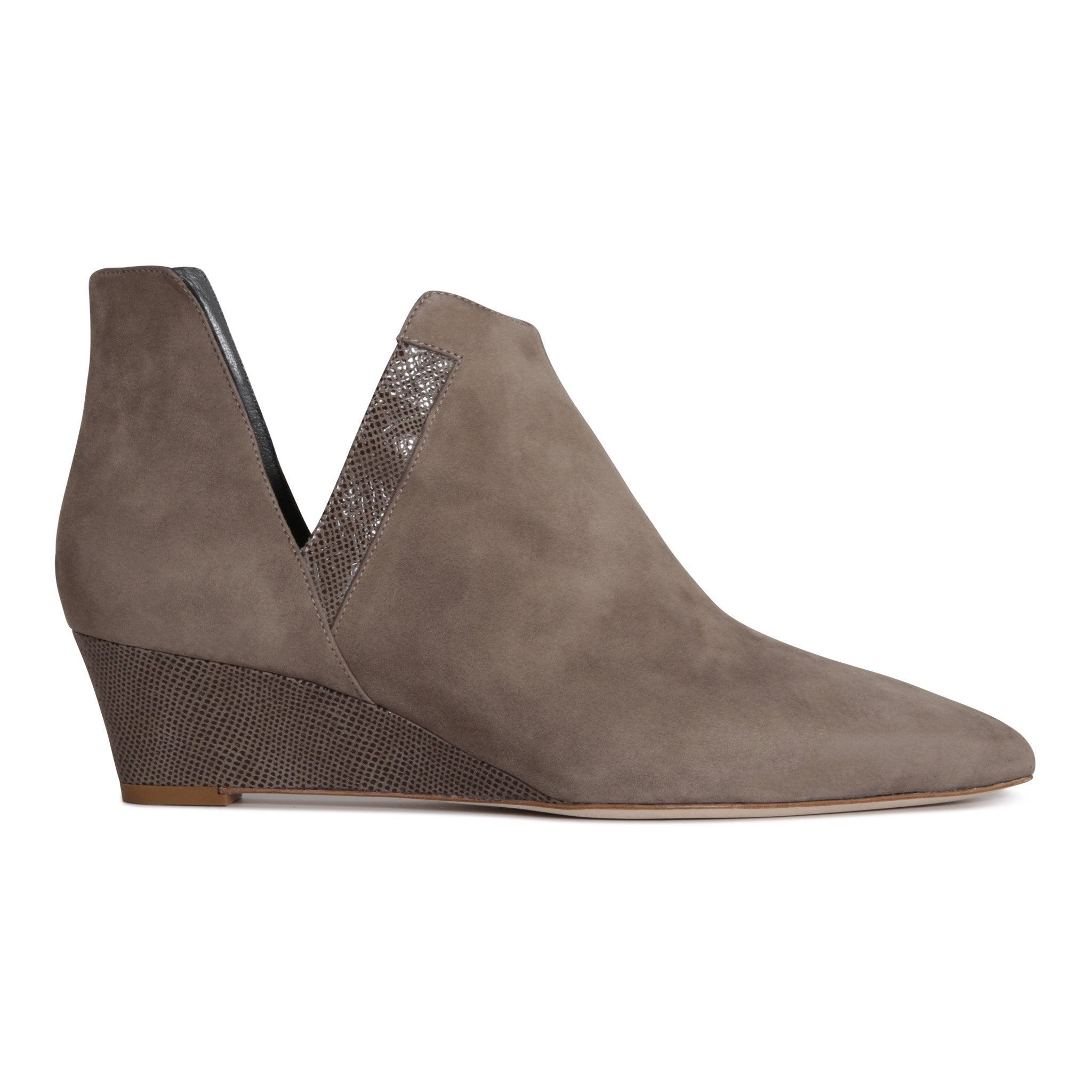 SYRENE- Velukid + Karung Taupe, VIAJIYU - Women's Hand Made Sustainable Luxury Shoes. Made in Italy. Made to Order.