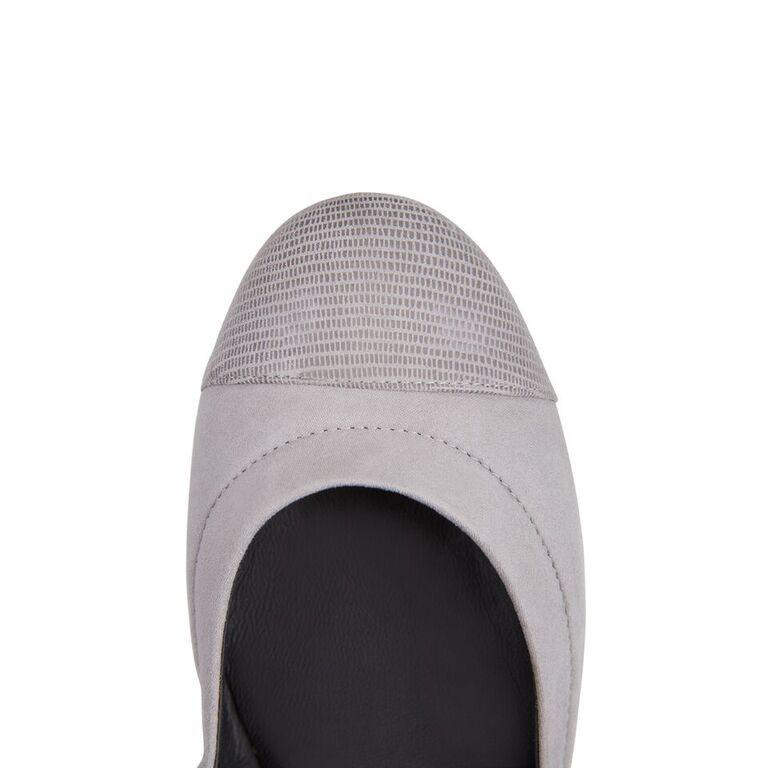PORTOFINO - Velukid Grigio + Varanus, VIAJIYU - Women's Hand Made Sustainable Luxury Shoes. Made in Italy. Made to Order.