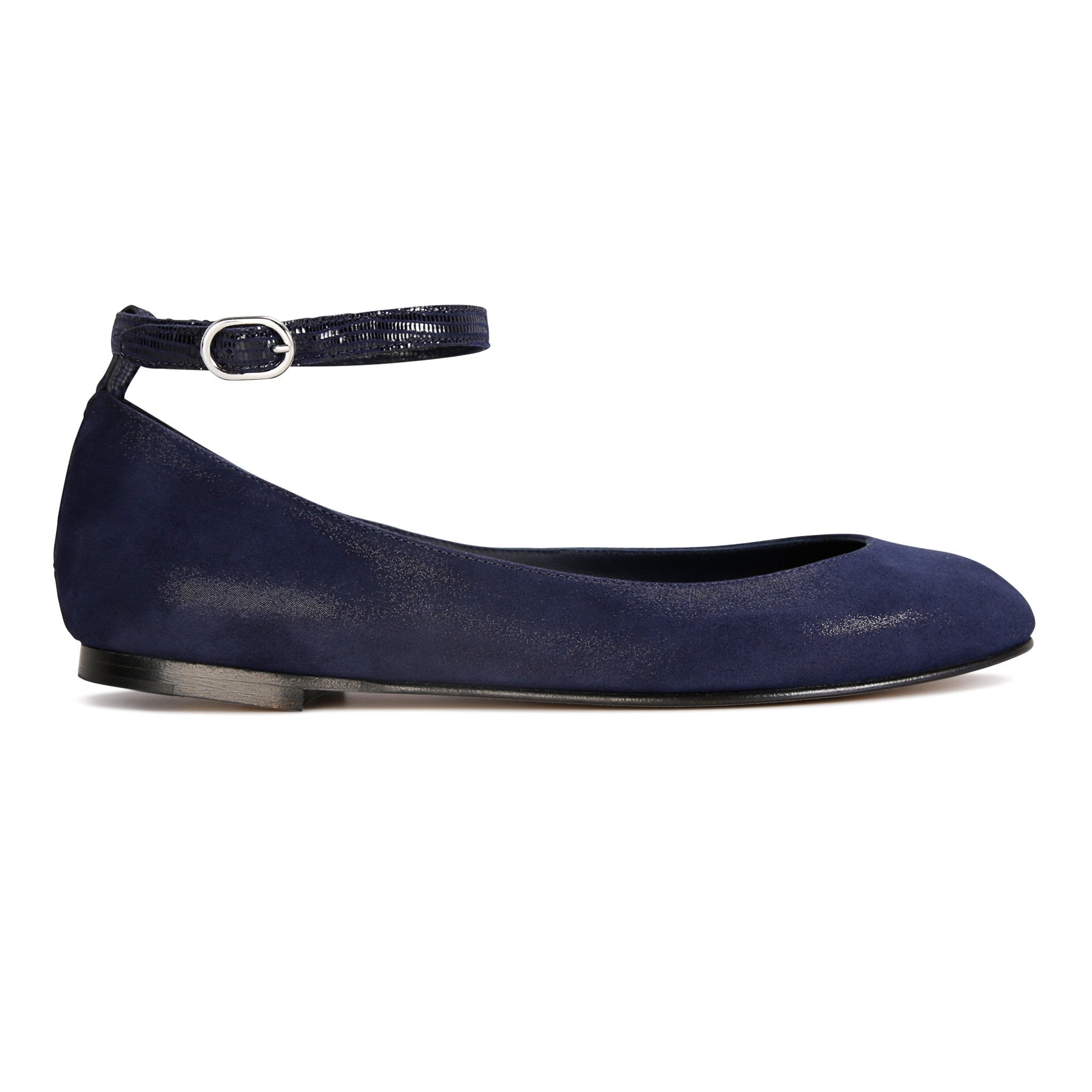 TORINO - Hydra Midnight + Varanus, VIAJIYU - Women's Hand Made Sustainable Luxury Shoes. Made in Italy. Made to Order.