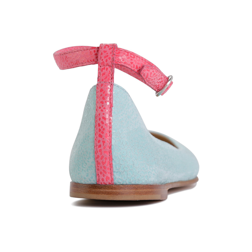 TORINO - Savannah Sky Mint + Epiphany Pink, VIAJIYU - Women's Hand Made Sustainable Luxury Shoes. Made in Italy. Made to Order.