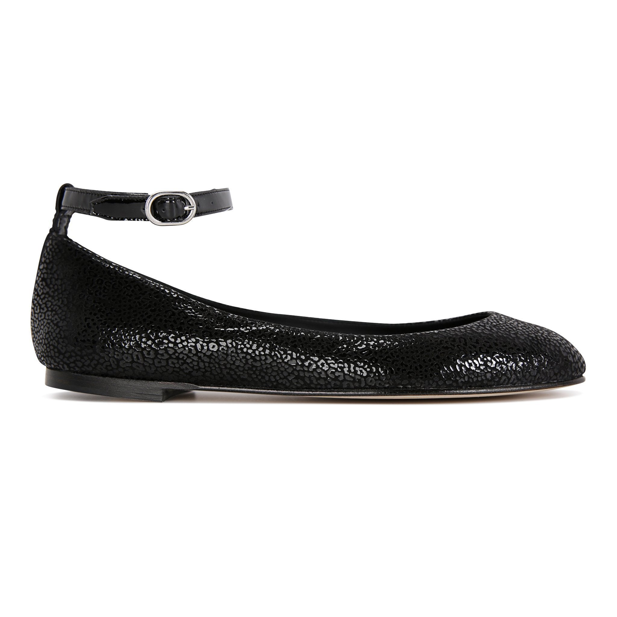 TORINO - Savannah Nero + Patent, VIAJIYU - Women's Hand Made Sustainable Luxury Shoes. Made in Italy. Made to Order.