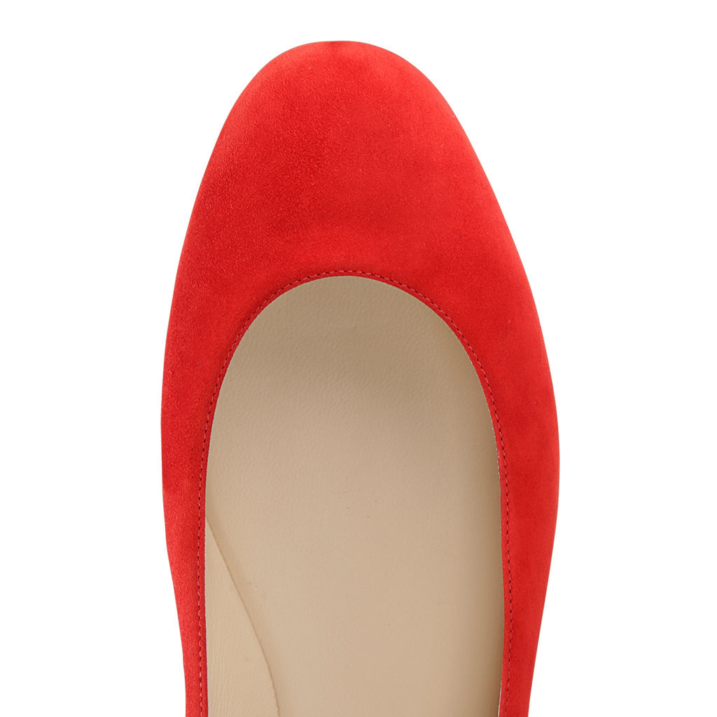TORINO - Velukid Rosso, VIAJIYU - Women's Hand Made Sustainable Luxury Shoes. Made in Italy. Made to Order.