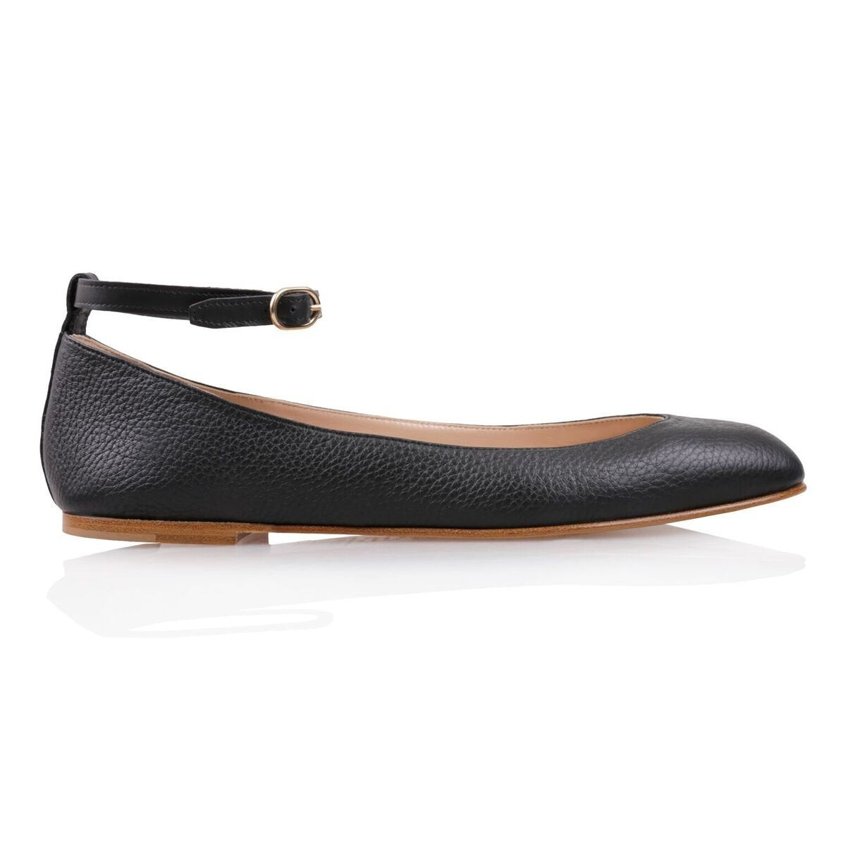TORINO - Calf Nero, VIAJIYU - Women's Hand Made Sustainable Luxury Shoes. Made in Italy. Made to Order.