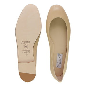 TORINO - Nappa Biscotto, VIAJIYU - Women's Hand Made Sustainable Luxury Shoes. Made in Italy. Made to Order.