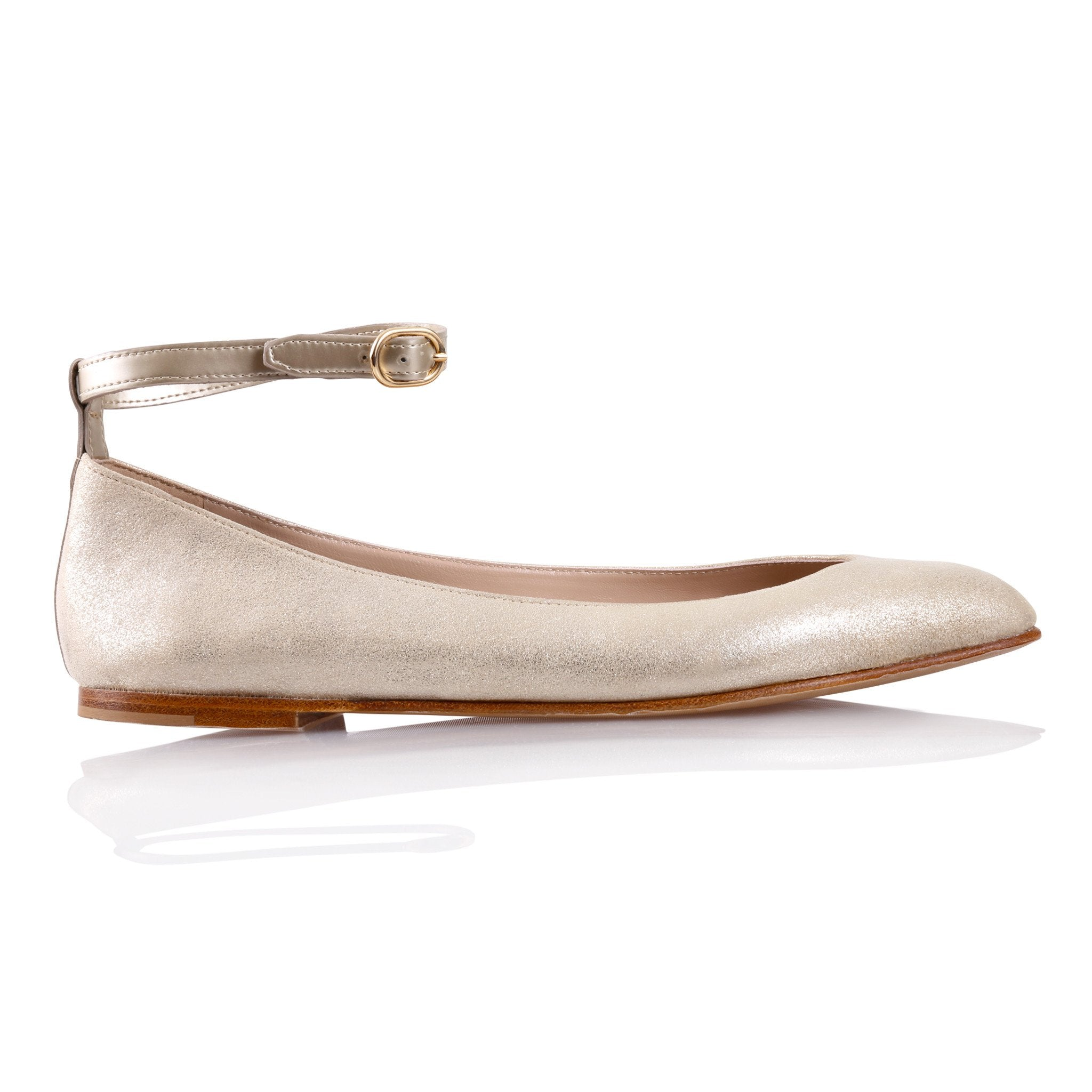 TORINO - Burma Platino + Gold, VIAJIYU - Women's Hand Made Sustainable Luxury Shoes. Made in Italy. Made to Order.