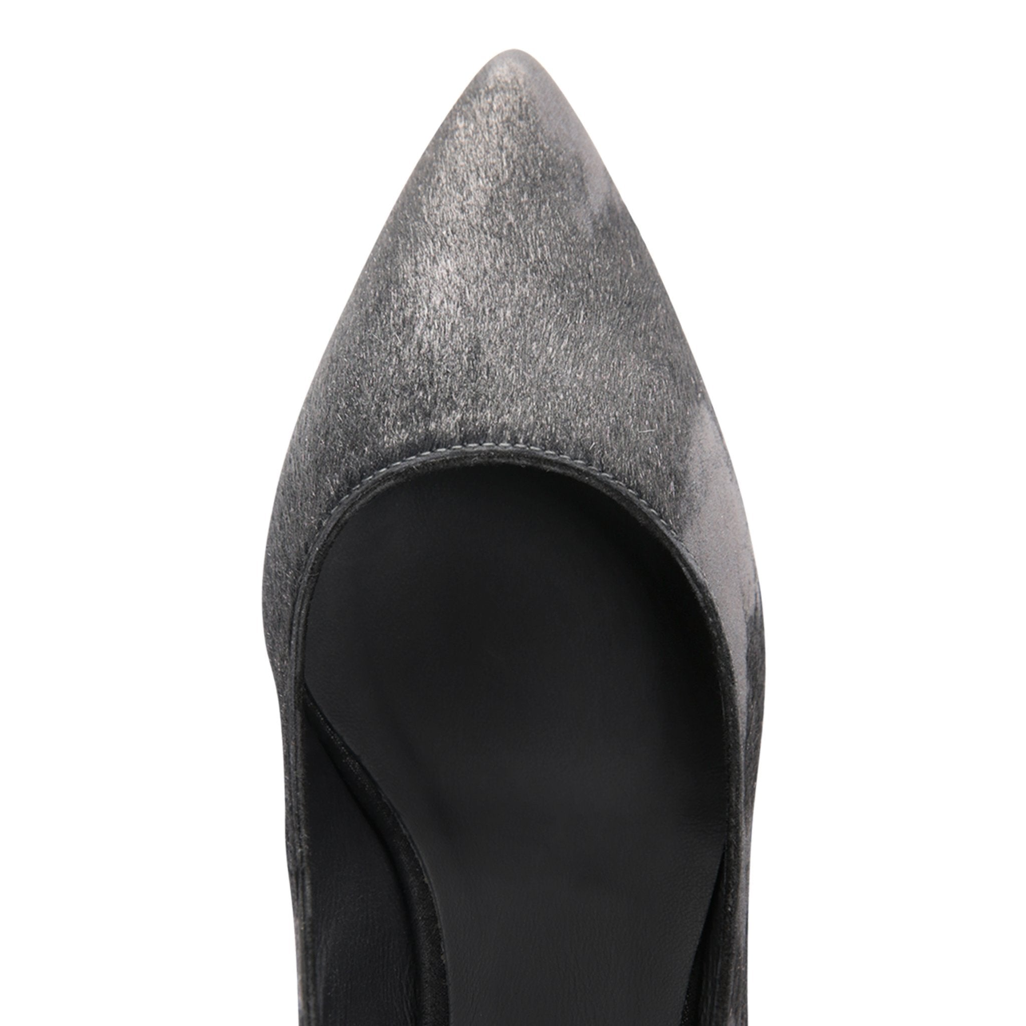 TRENTO - Calf Hair Vintage + Burma Nero, VIAJIYU - Women's Hand Made Sustainable Luxury Shoes. Made in Italy. Made to Order.