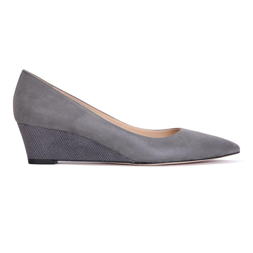 TRENTO - Hydra + Karung Anthracite, VIAJIYU - Women's Hand Made Sustainable Luxury Shoes. Made in Italy. Made to Order.