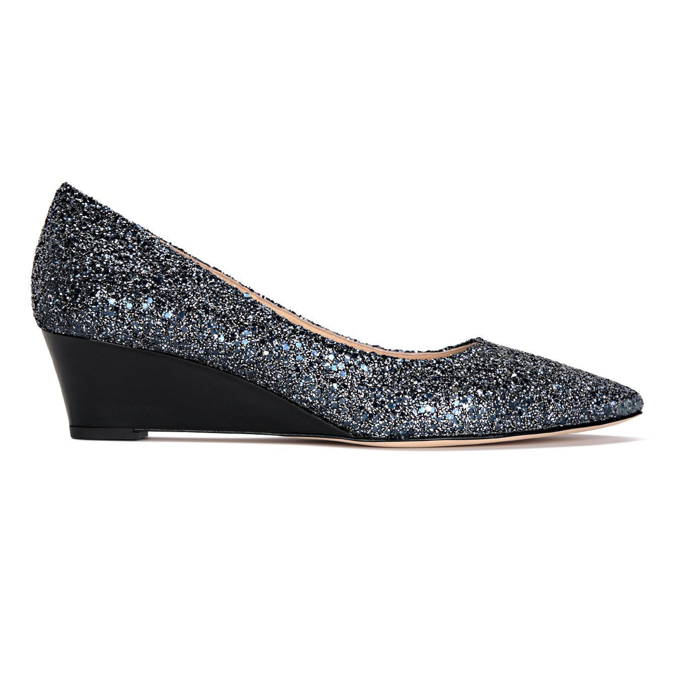 TRENTO - Glitter Midnight + Patent Nero - VIAJIYU Shoes