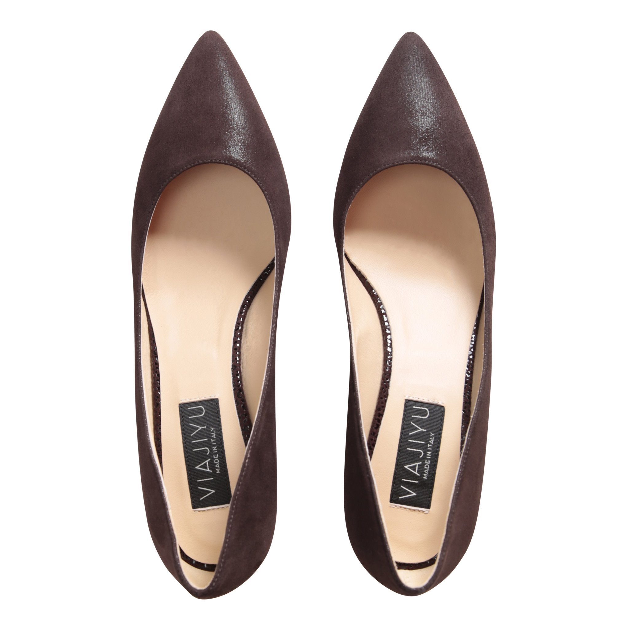 TRENTO - Hydra + Savannah Espresso, VIAJIYU - Women's Hand Made Sustainable Luxury Shoes. Made in Italy. Made to Order.