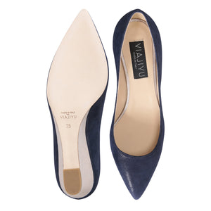 TRENTO - Hydra Midnight + Burma Platino, VIAJIYU - Women's Hand Made Sustainable Luxury Shoes. Made in Italy. Made to Order.
