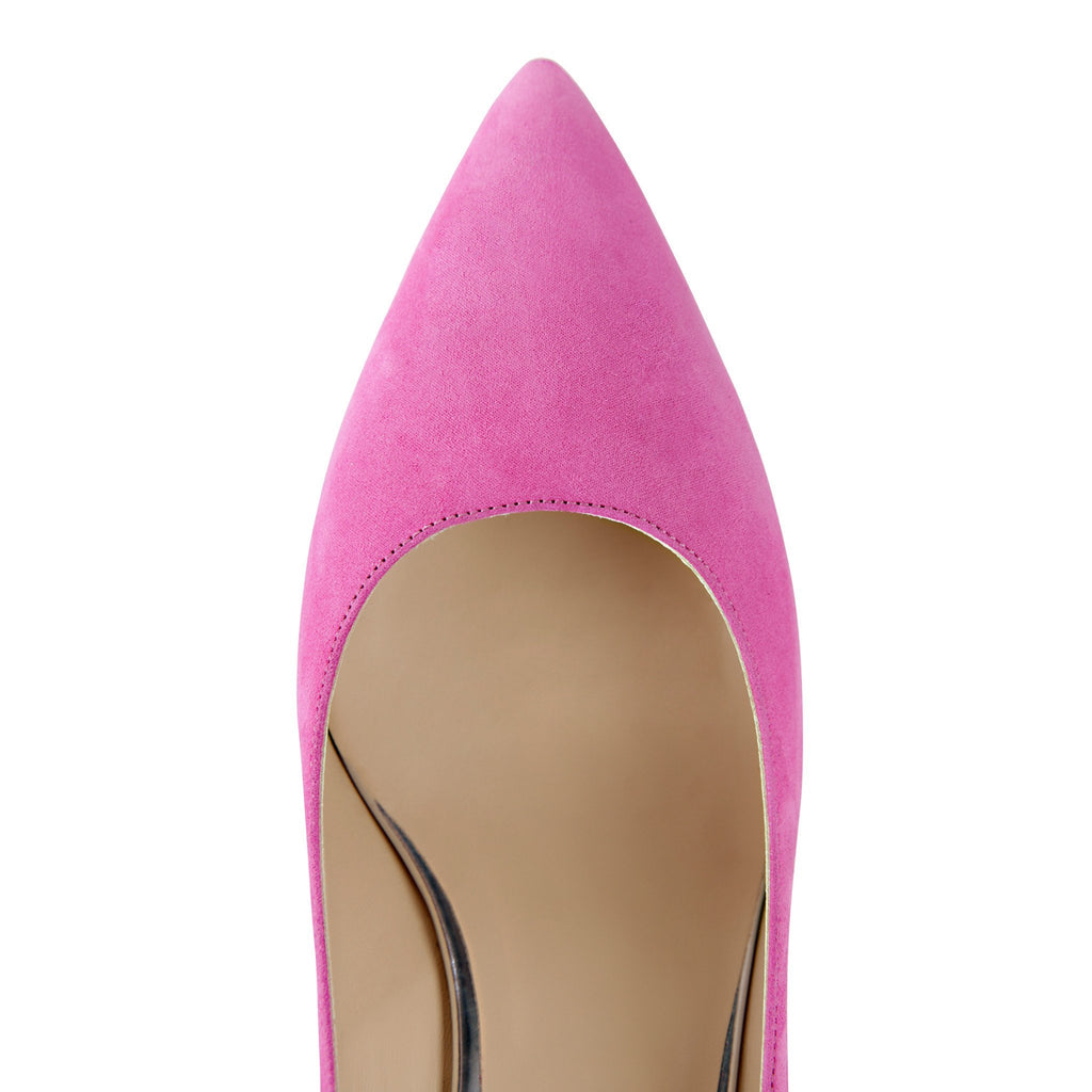TRENTO - Hydra Epiphany Pink + Metallic Argento, VIAJIYU - Women's Hand Made Sustainable Luxury Shoes. Made in Italy. Made to Order.