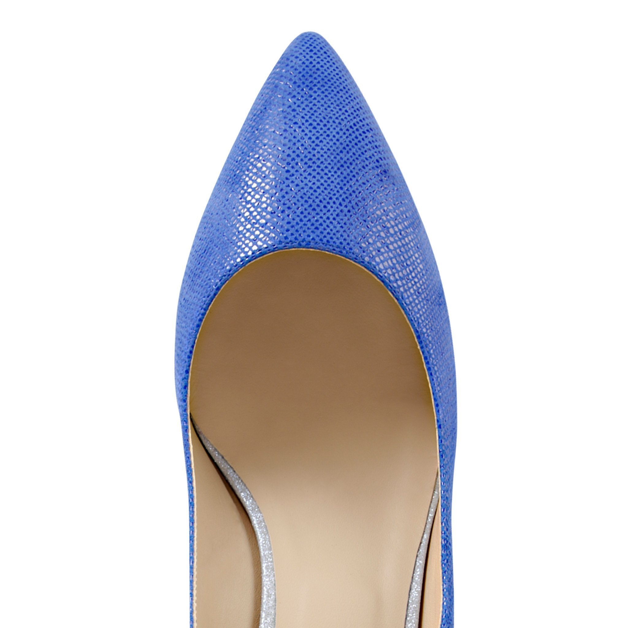 TRENTO - Karung Cobalt + Bright Argento, VIAJIYU - Women's Hand Made Sustainable Luxury Shoes. Made in Italy. Made to Order.