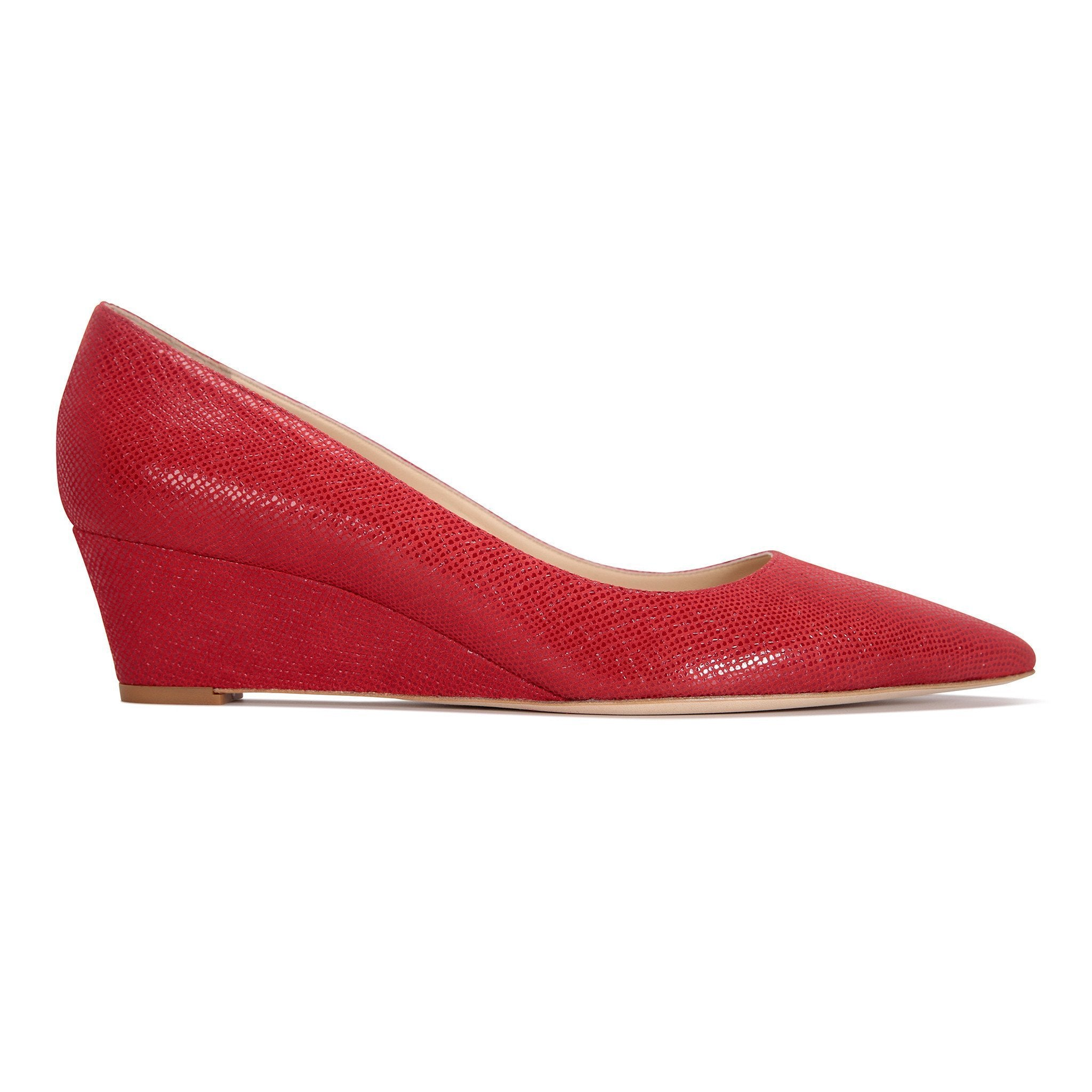 TRENTO - Karung Rosso, VIAJIYU - Women's Hand Made Sustainable Luxury Shoes. Made in Italy. Made to Order.