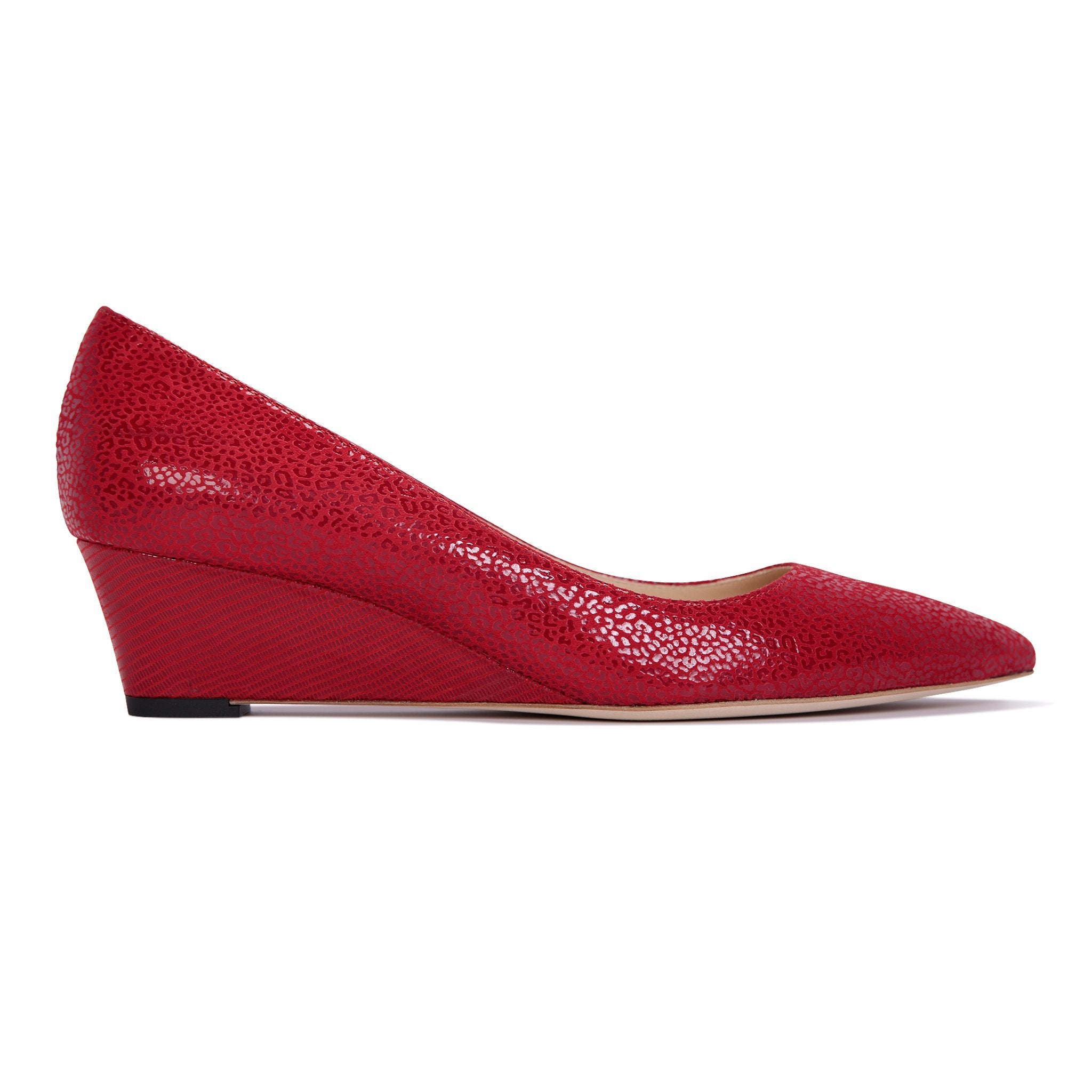 TRENTO - Savannah + Varanus Rosso, VIAJIYU - Women's Hand Made Sustainable Luxury Shoes. Made in Italy. Made to Order.