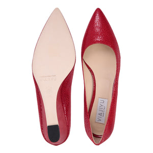 TRENTO - Savannah + Varanus Red, VIAJIYU - Women's Hand Made Sustainable Luxury Shoes. Made in Italy. Made to Order.