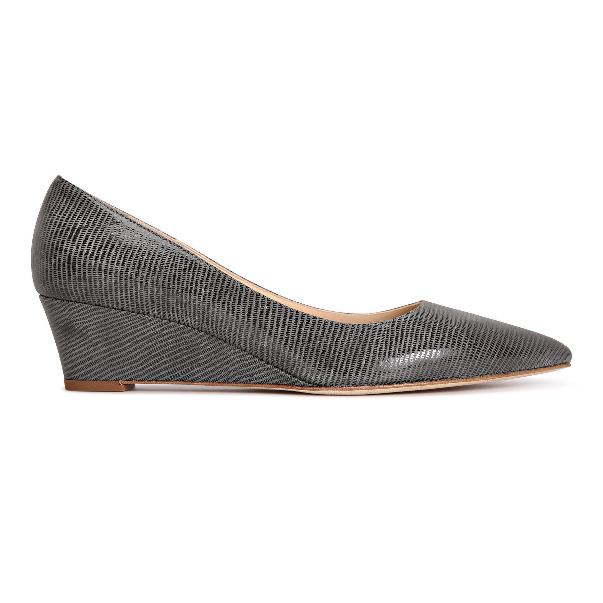 TRENTO - Varanus Anthracite, VIAJIYU - Women's Hand Made Sustainable Luxury Shoes. Made in Italy. Made to Order.