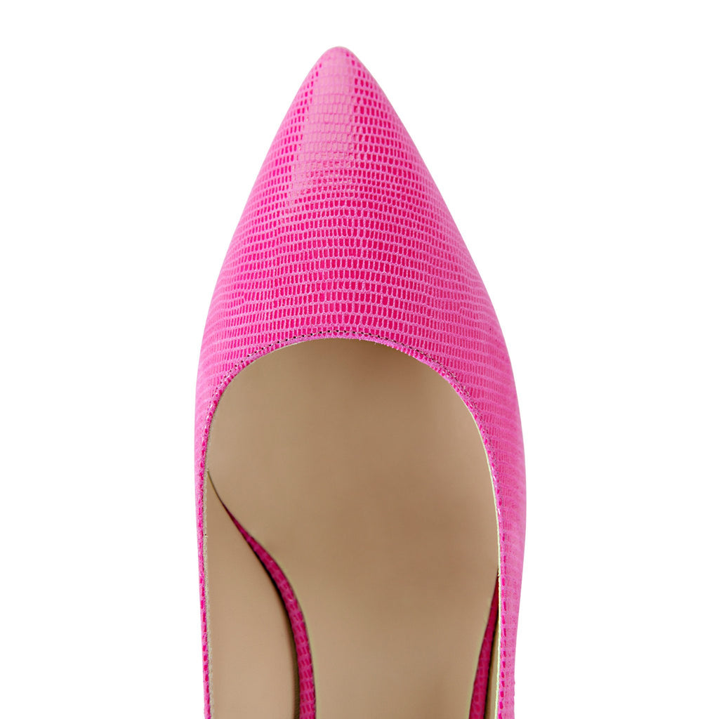 TRENTO - Varanus Epiphany Pink, VIAJIYU - Women's Hand Made Sustainable Luxury Shoes. Made in Italy. Made to Order.