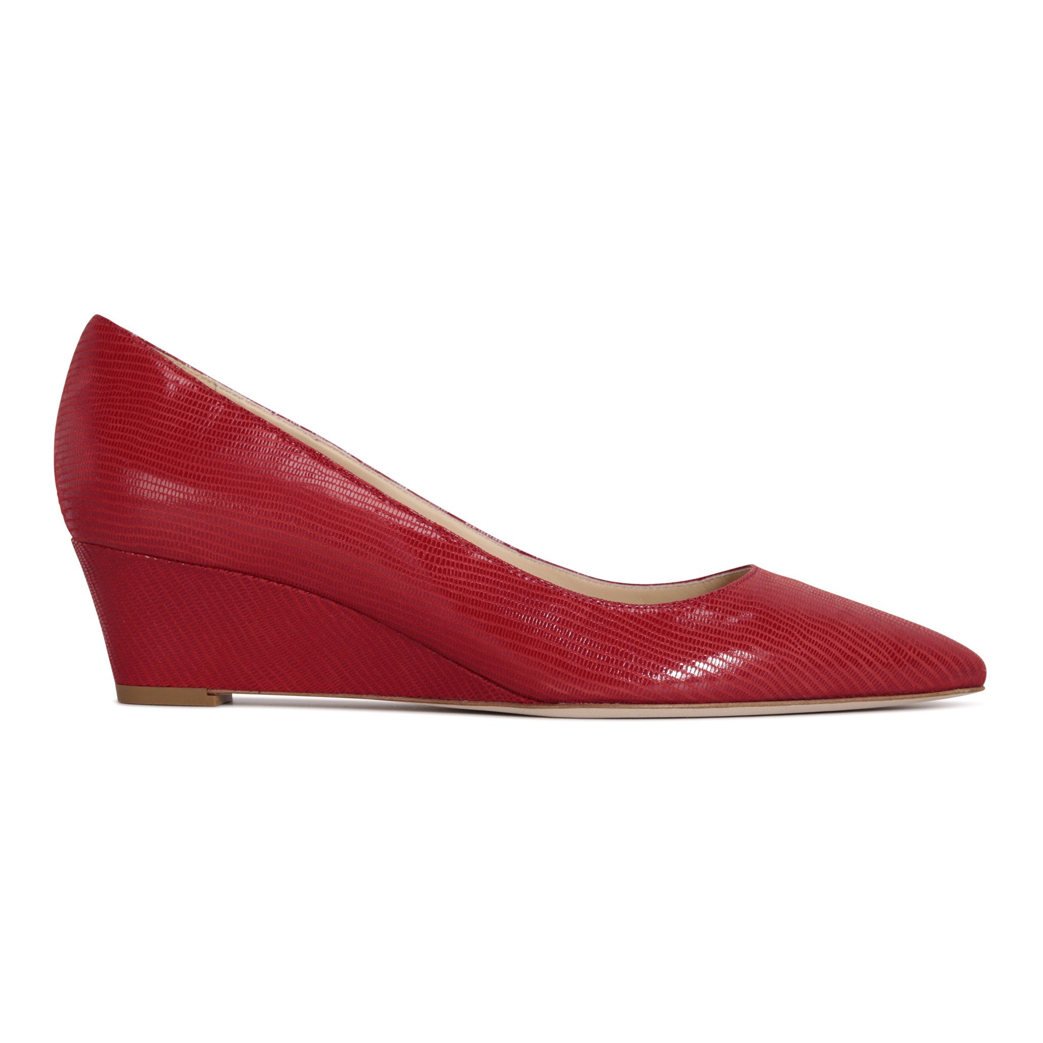 TRENTO - Varanus Rosso, VIAJIYU - Women's Hand Made Sustainable Luxury Shoes. Made in Italy. Made to Order.