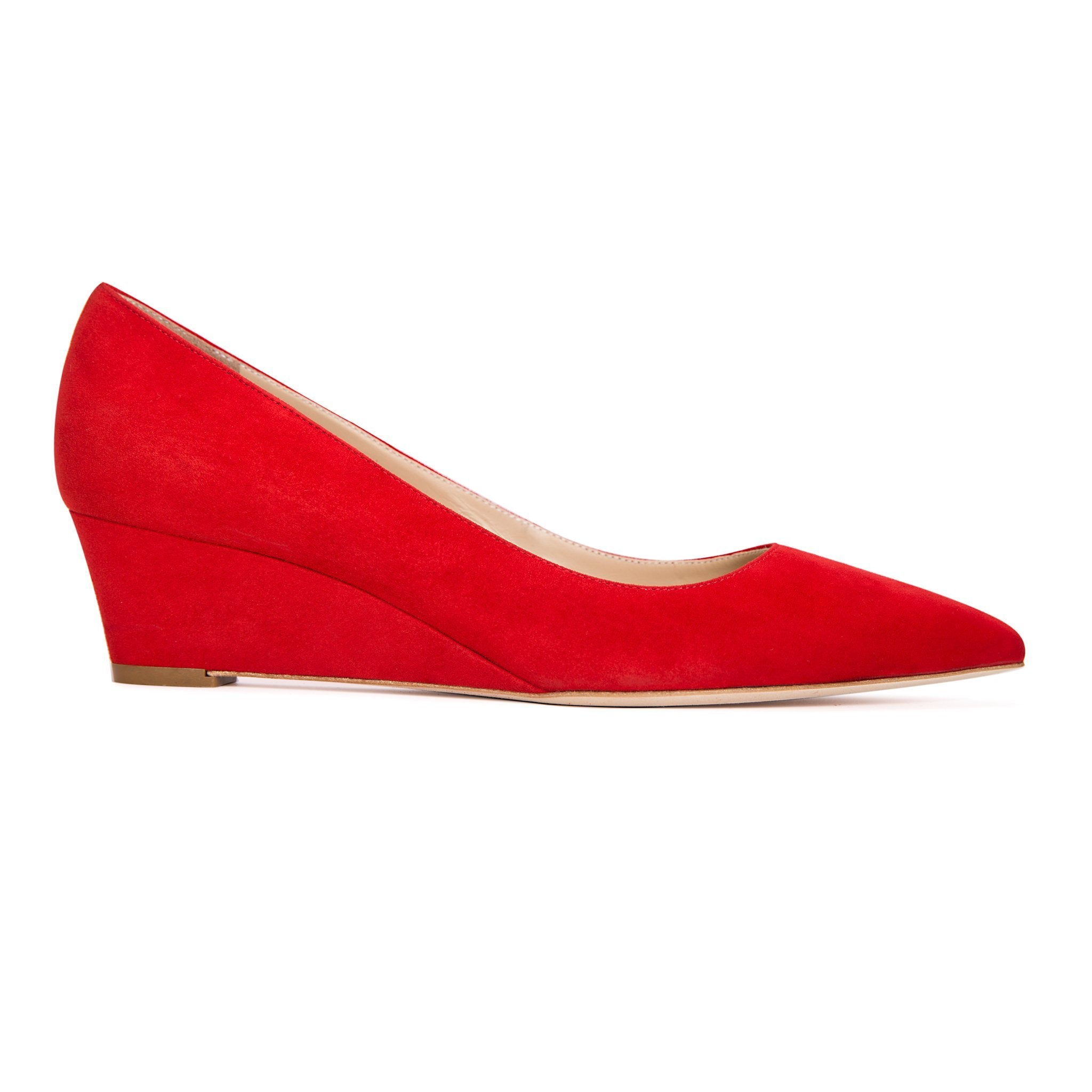 TRENTO - Velukid Rosso, VIAJIYU - Women's Hand Made Sustainable Luxury Shoes. Made in Italy. Made to Order.