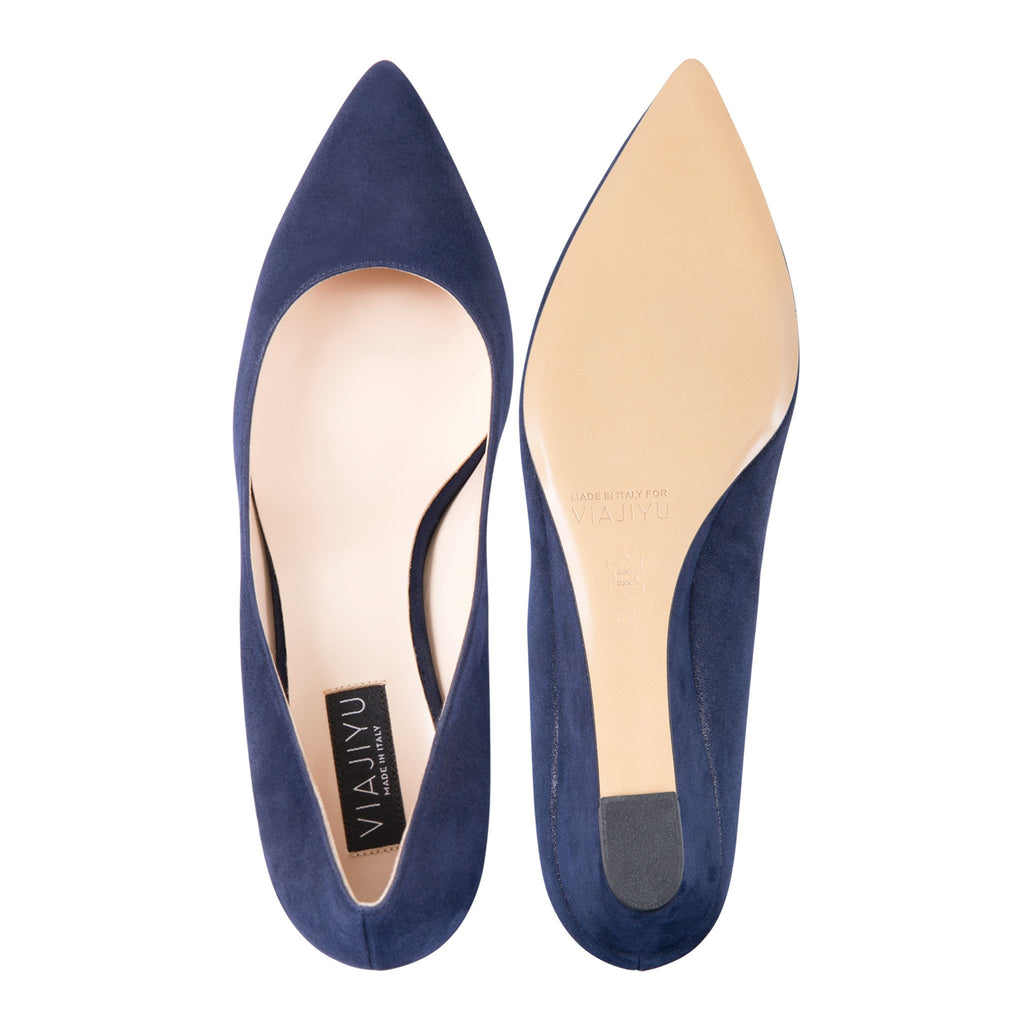 TRENTO - Hydra Midnight, VIAJIYU - Women's Hand Made Sustainable Luxury Shoes. Made in Italy. Made to Order.