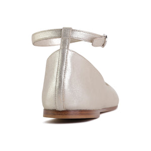 TORINO - Burma Platino, VIAJIYU - Women's Hand Made Sustainable Luxury Shoes. Made in Italy. Made to Order.