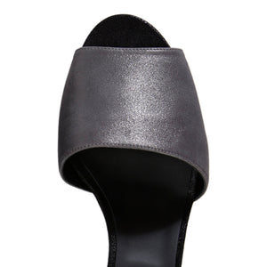TRIESTE - Burma Anthracite + Nero, VIAJIYU - Women's Hand Made Sustainable Luxury Shoes. Made in Italy. Made to Order.