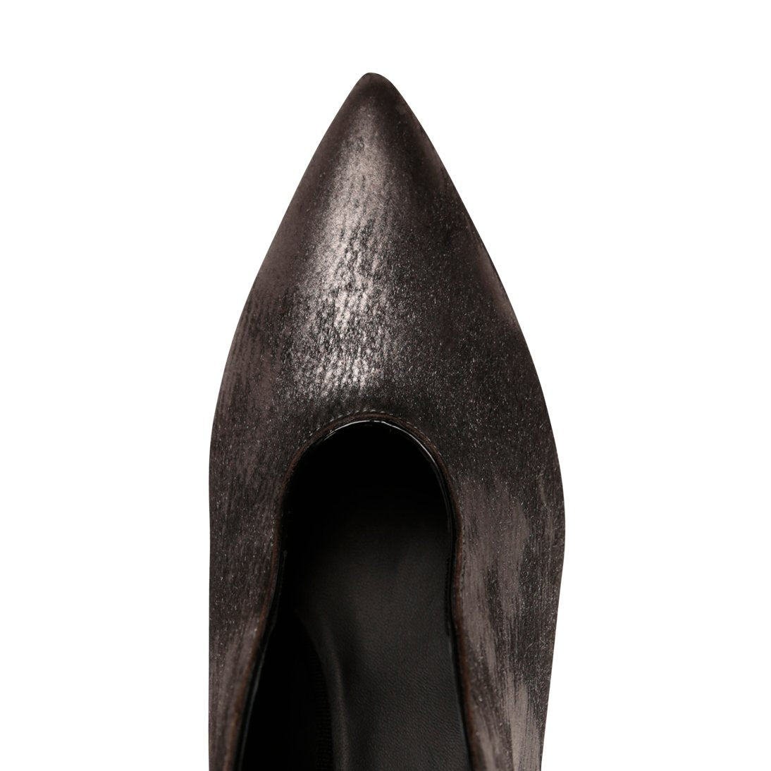 URBINO - Calf Hair Vintage Nero, VIAJIYU - Women's Hand Made Sustainable Luxury Shoes. Made in Italy. Made to Order.