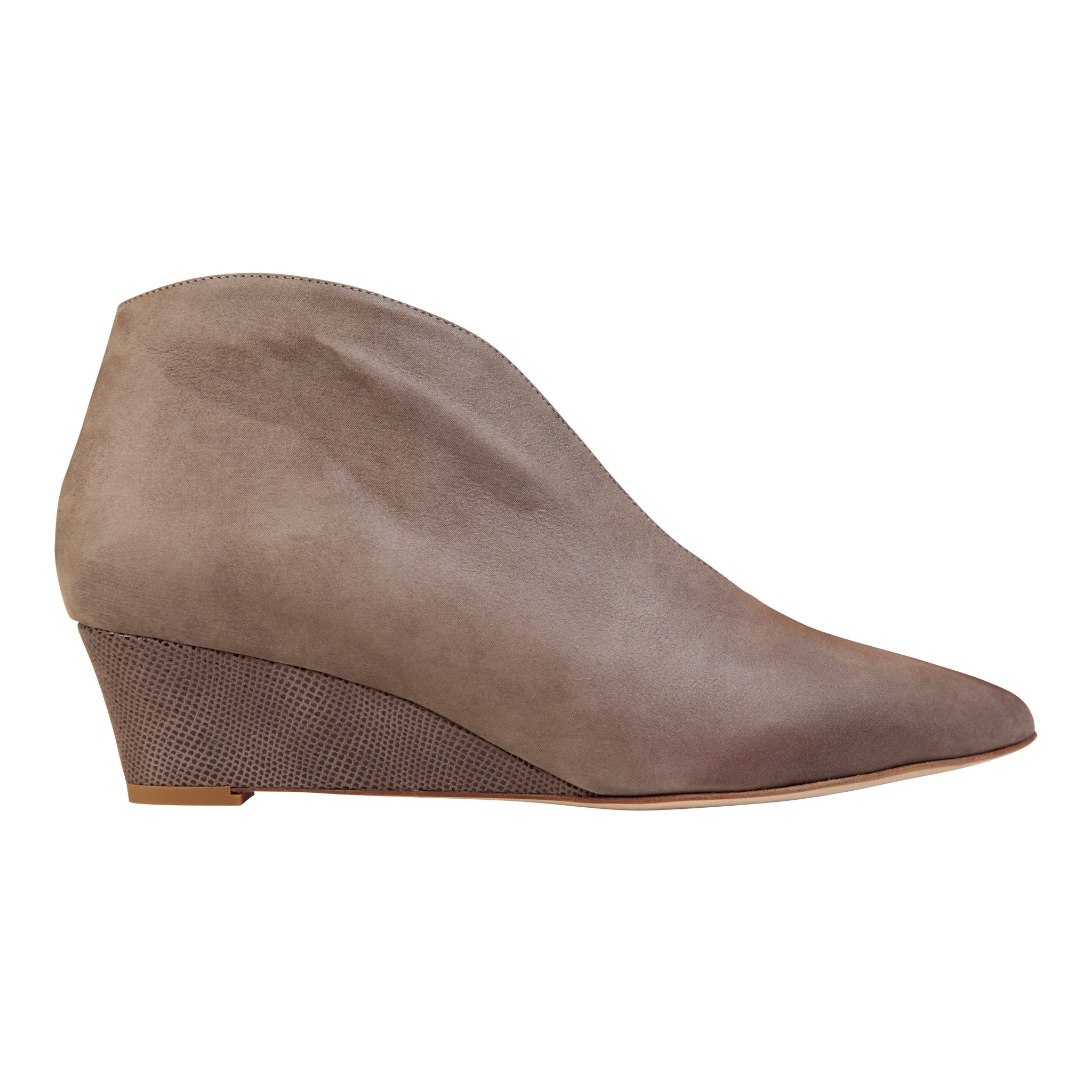 URBINO - Hydra + Karung Taupe, VIAJIYU - Women's Hand Made Sustainable Luxury Shoes. Made in Italy. Made to Order.