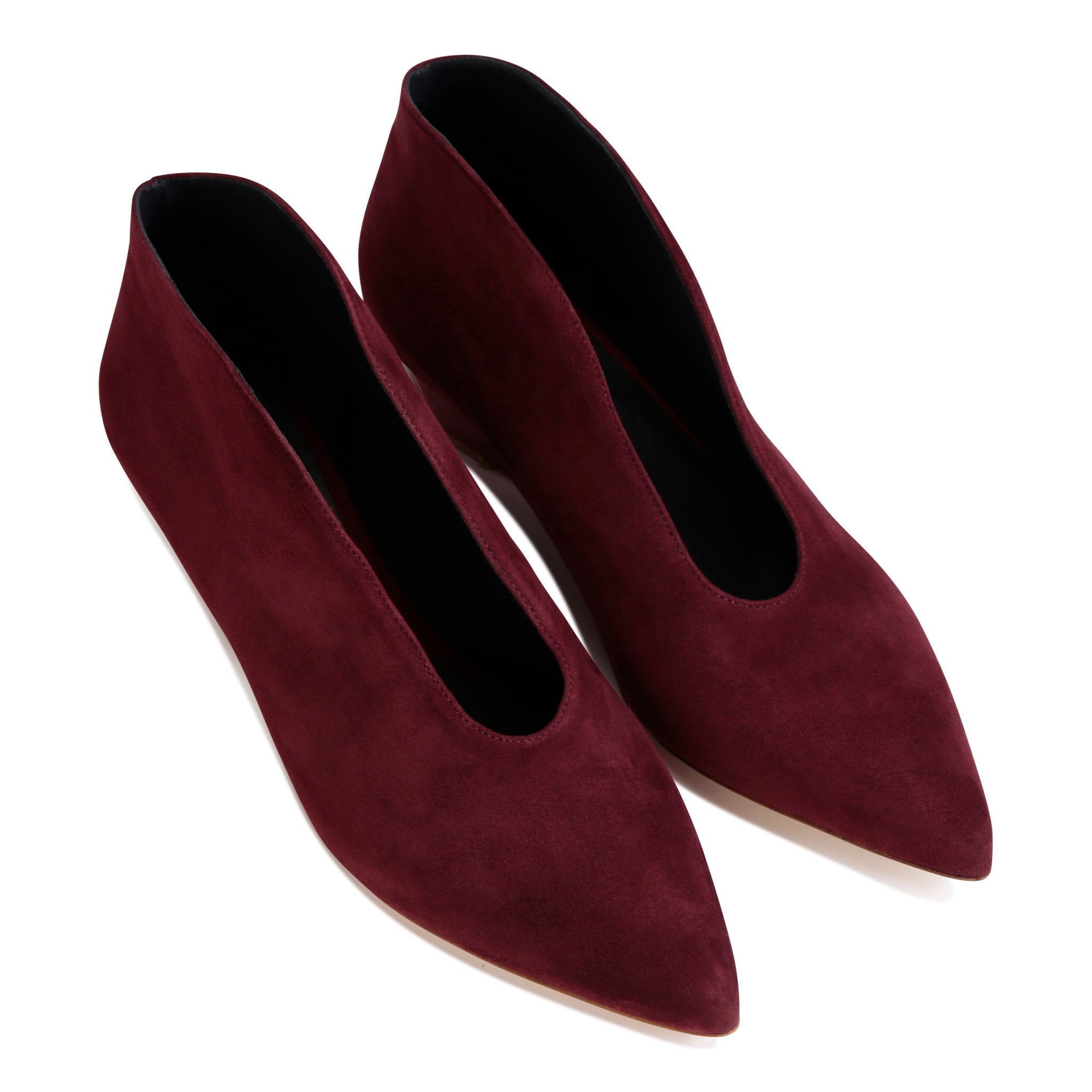 URBINO - Velukid + Karung Garnet, VIAJIYU - Women's Hand Made Sustainable Luxury Shoes. Made in Italy. Made to Order.